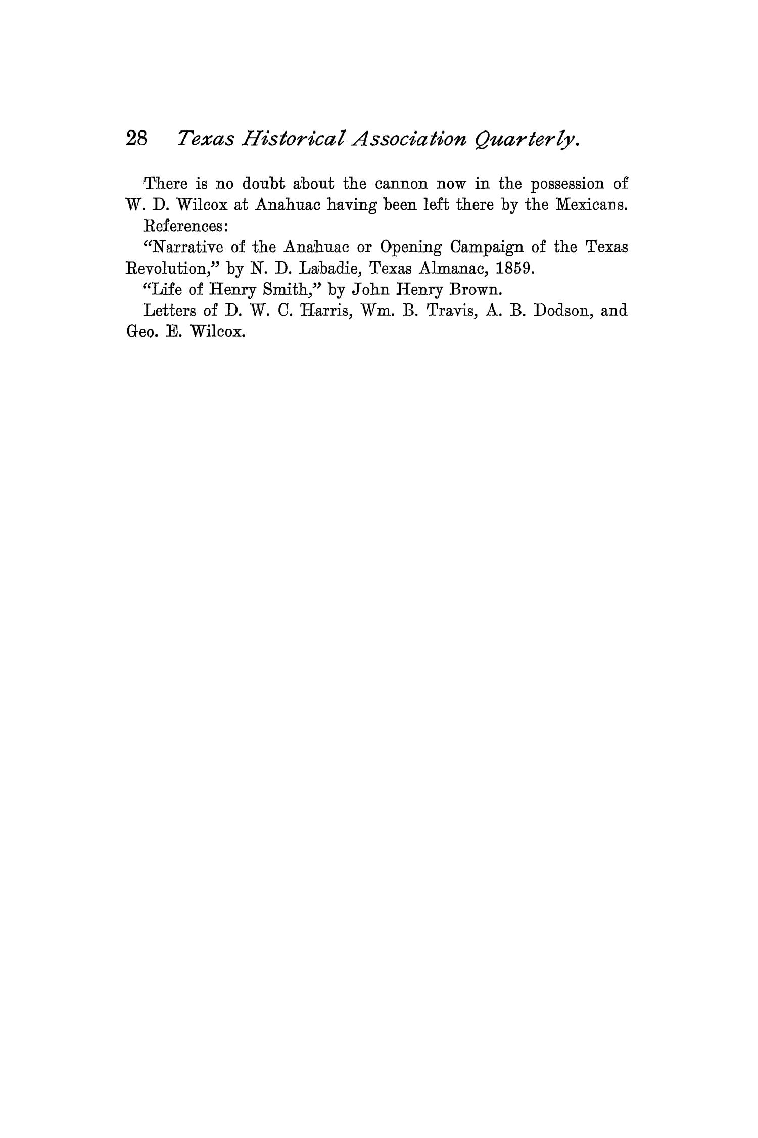 The Quarterly of the Texas State Historical Association, Volume 2, July 1898 - April, 1899                                                                                                      28