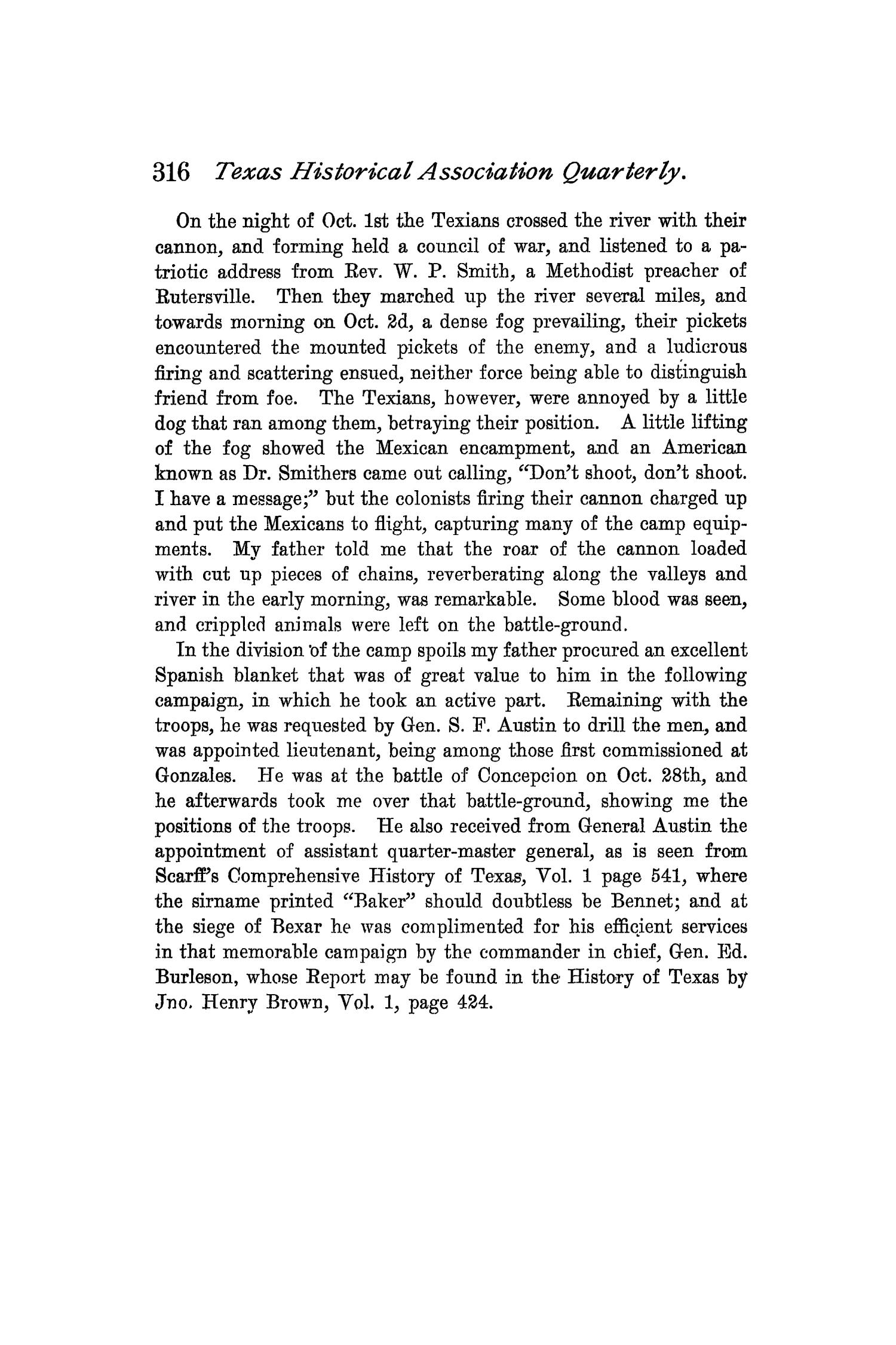 The Quarterly of the Texas State Historical Association, Volume 2, July 1898 - April, 1899                                                                                                      316