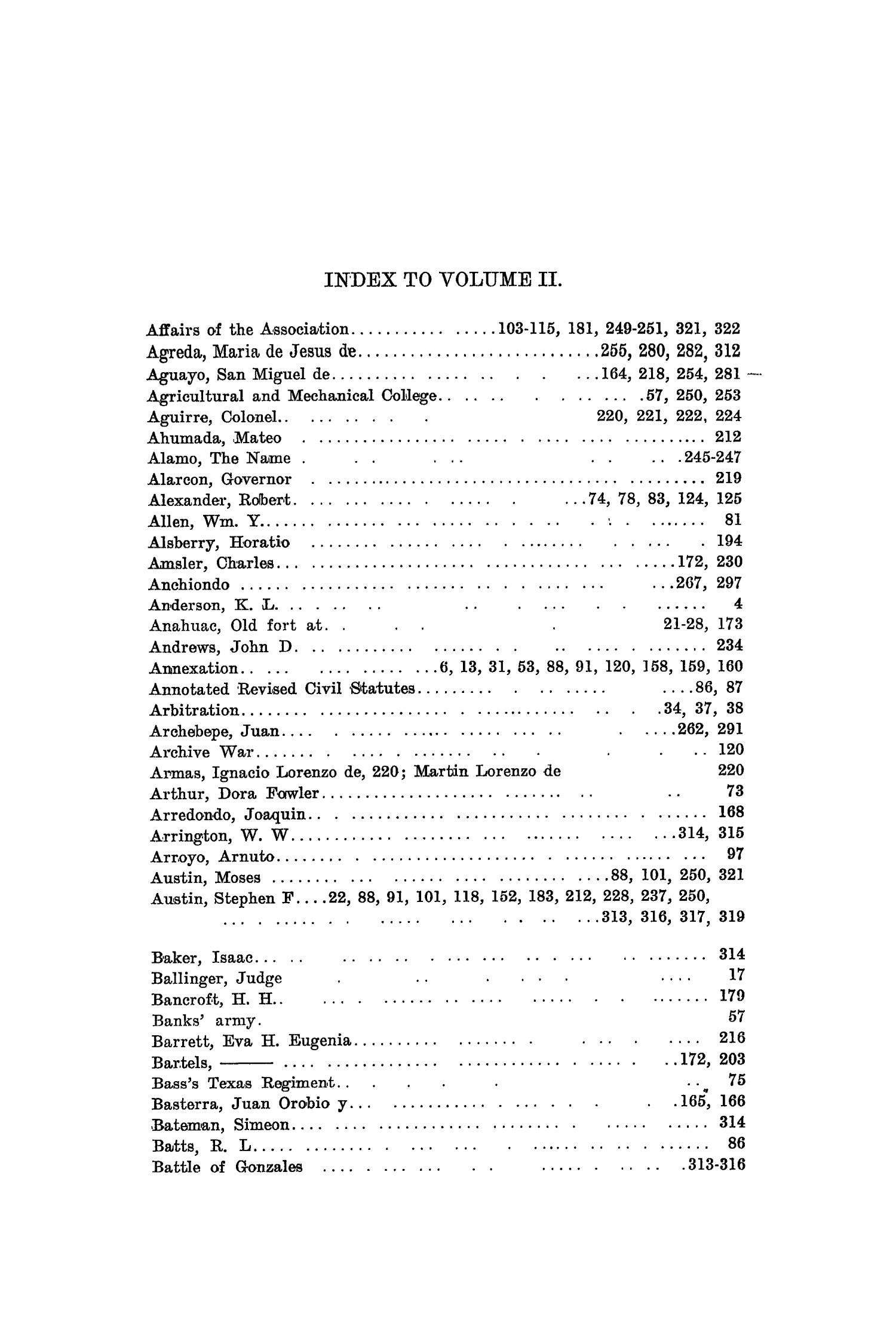 The Quarterly of the Texas State Historical Association, Volume 2, July 1898 - April, 1899                                                                                                      323