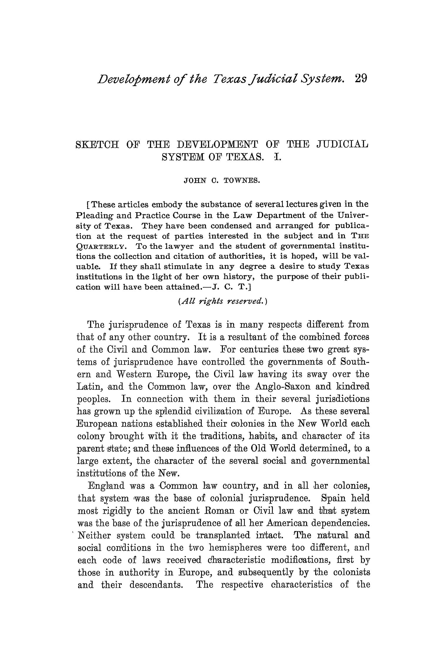 The Quarterly of the Texas State Historical Association, Volume 2, July 1898 - April, 1899                                                                                                      29