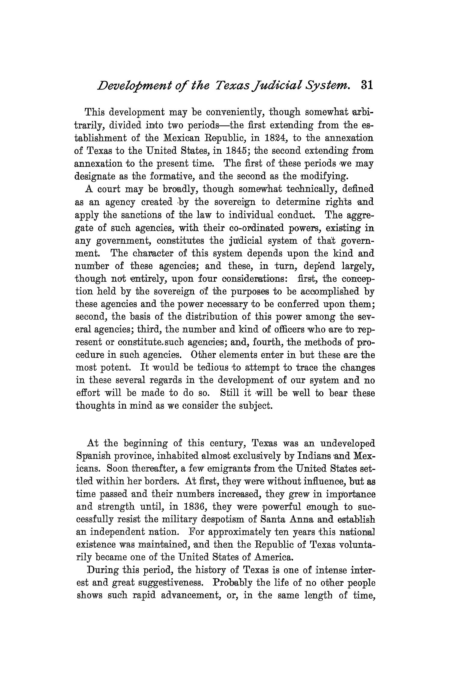The Quarterly of the Texas State Historical Association, Volume 2, July 1898 - April, 1899                                                                                                      31
