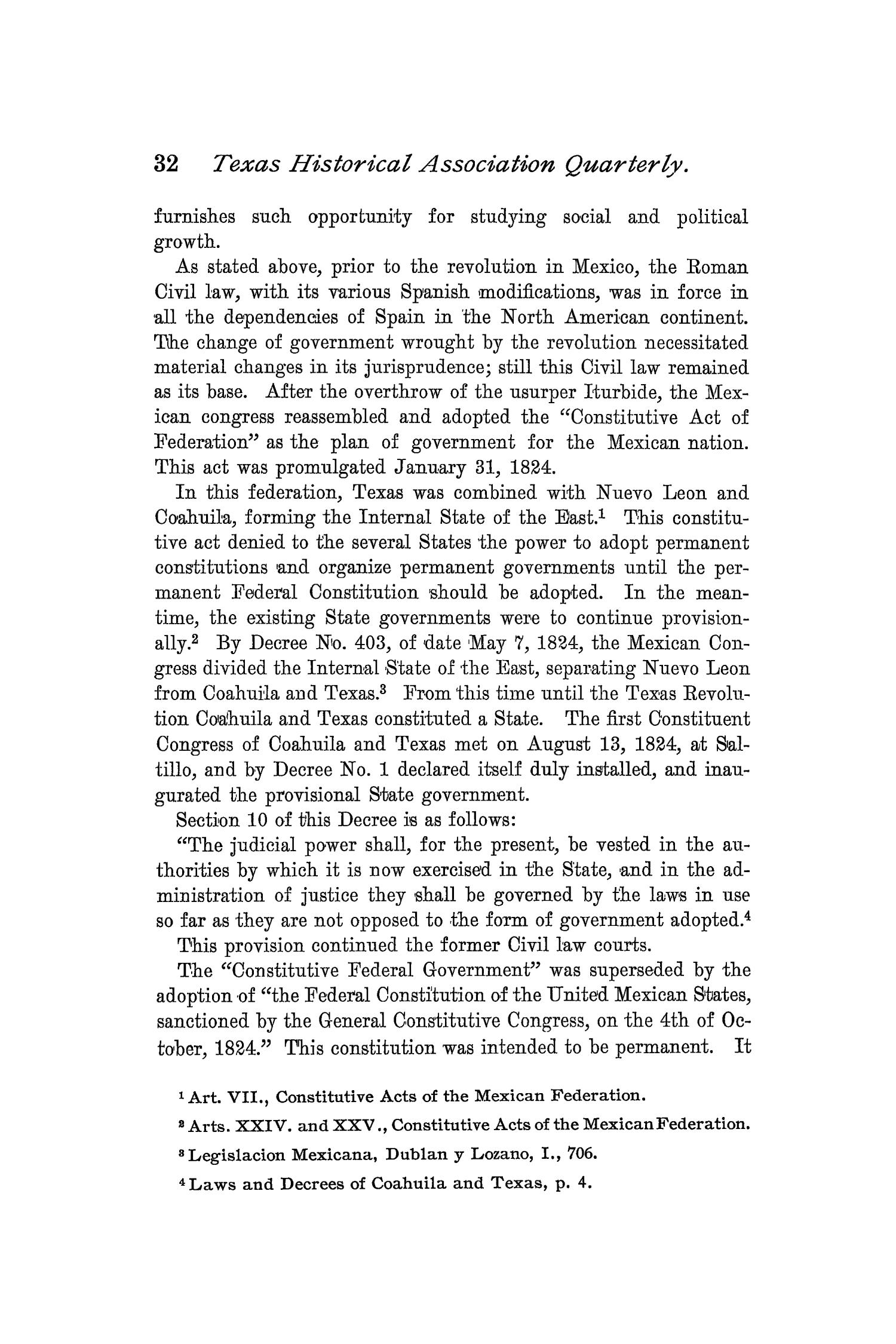 The Quarterly of the Texas State Historical Association, Volume 2, July 1898 - April, 1899                                                                                                      32