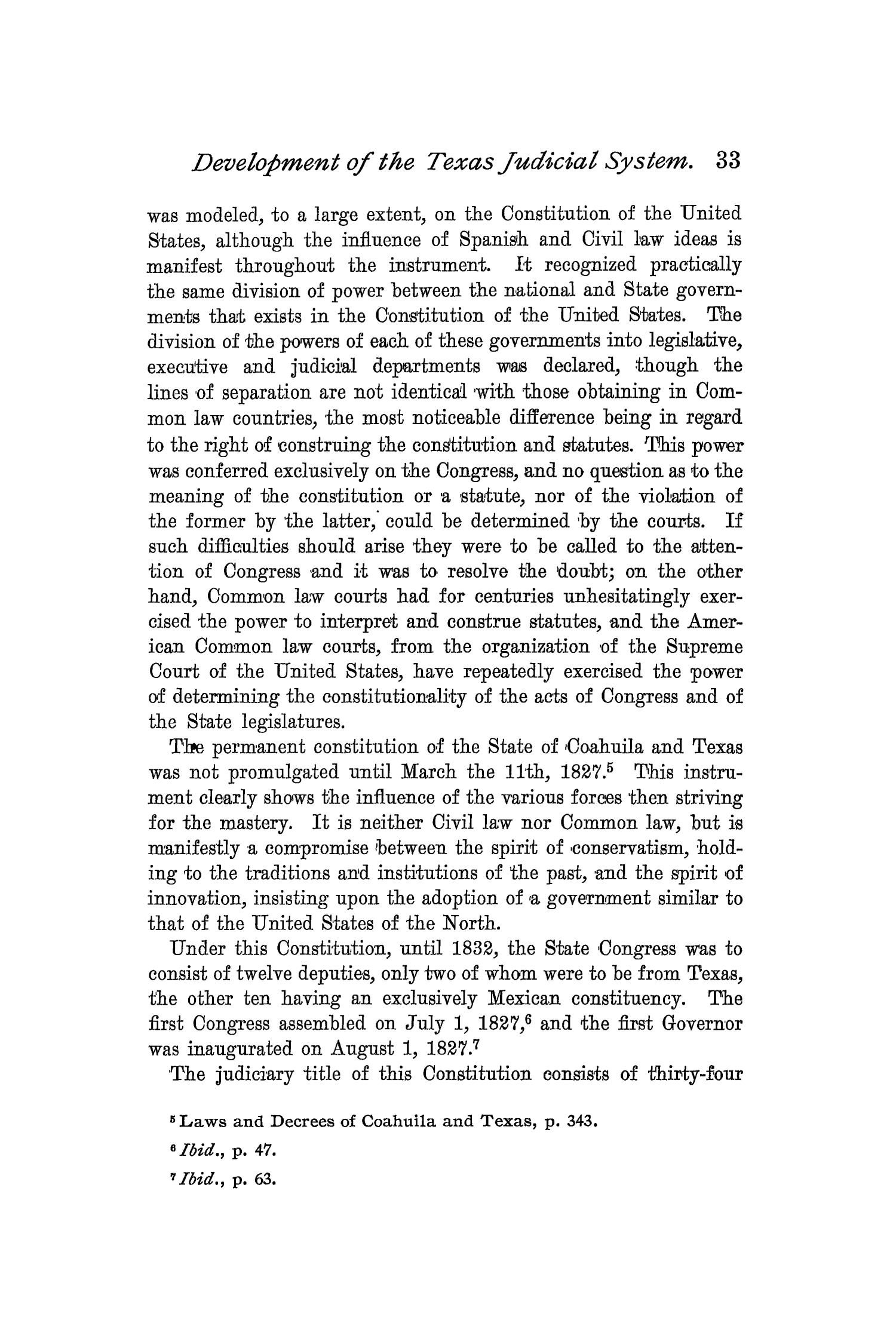 The Quarterly of the Texas State Historical Association, Volume 2, July 1898 - April, 1899                                                                                                      33
