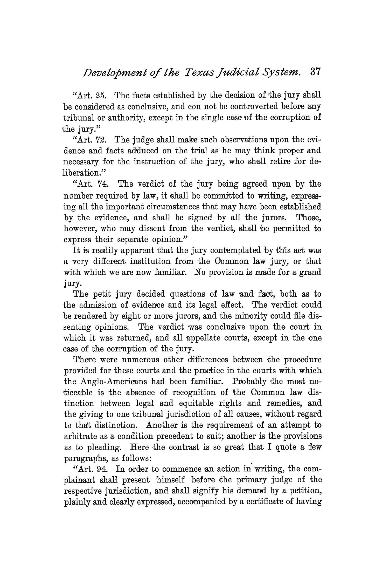 The Quarterly of the Texas State Historical Association, Volume 2, July 1898 - April, 1899                                                                                                      37