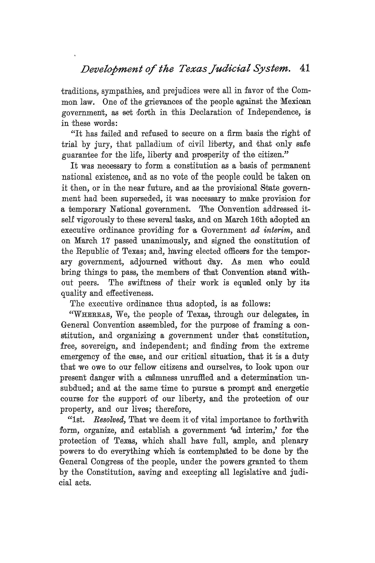 The Quarterly of the Texas State Historical Association, Volume 2, July 1898 - April, 1899                                                                                                      41