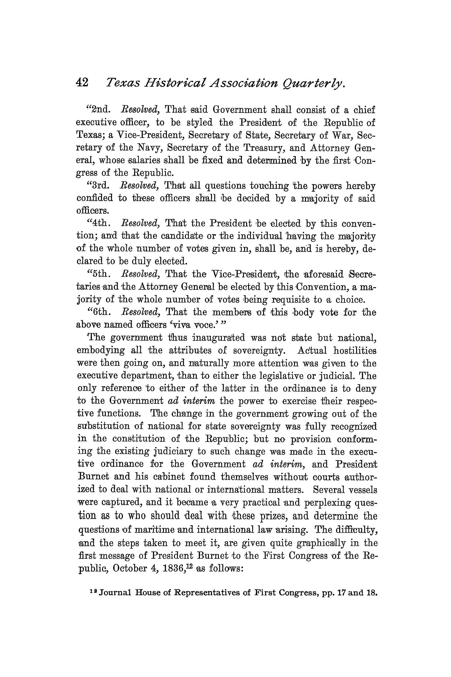 The Quarterly of the Texas State Historical Association, Volume 2, July 1898 - April, 1899                                                                                                      42
