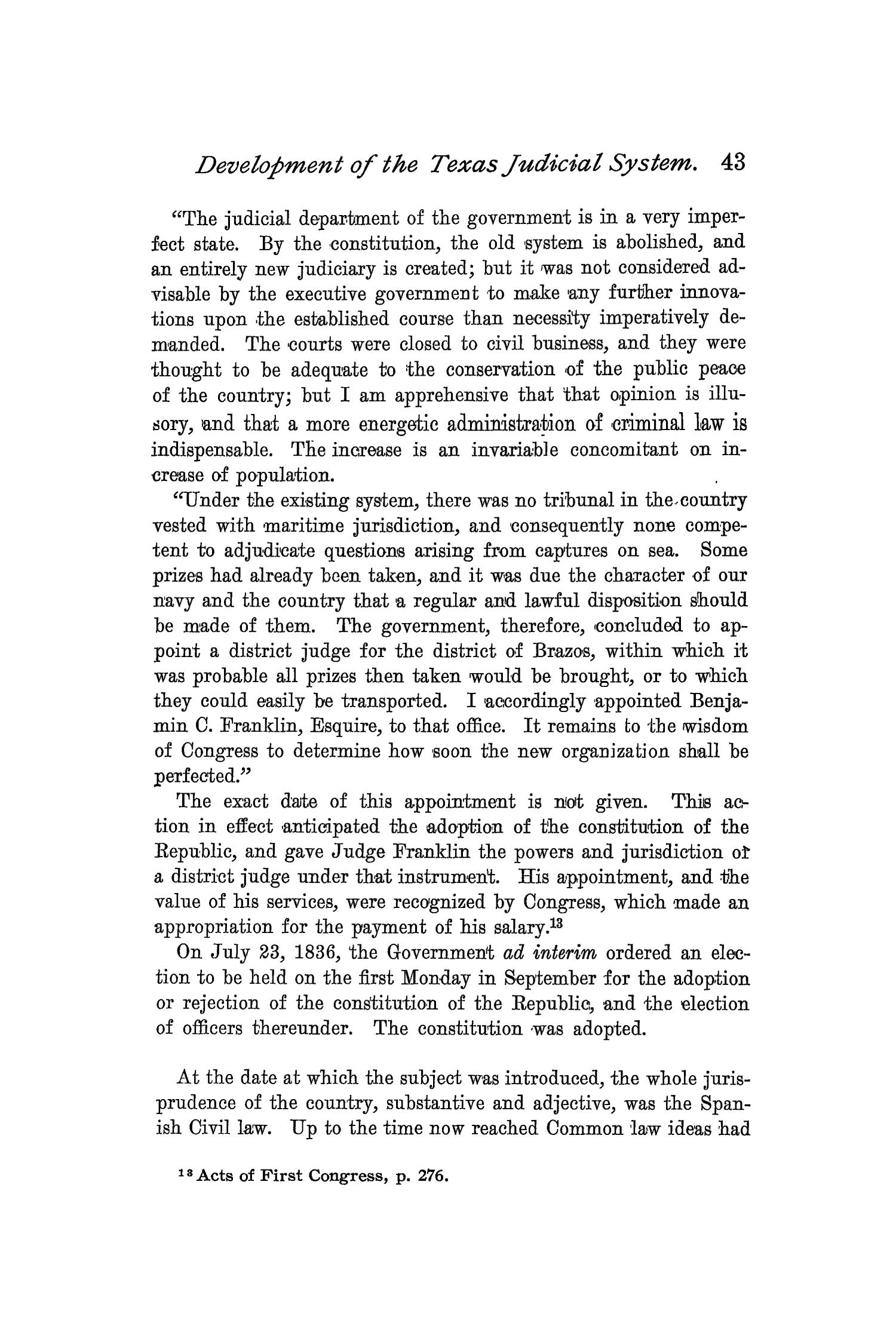 The Quarterly of the Texas State Historical Association, Volume 2, July 1898 - April, 1899                                                                                                      43