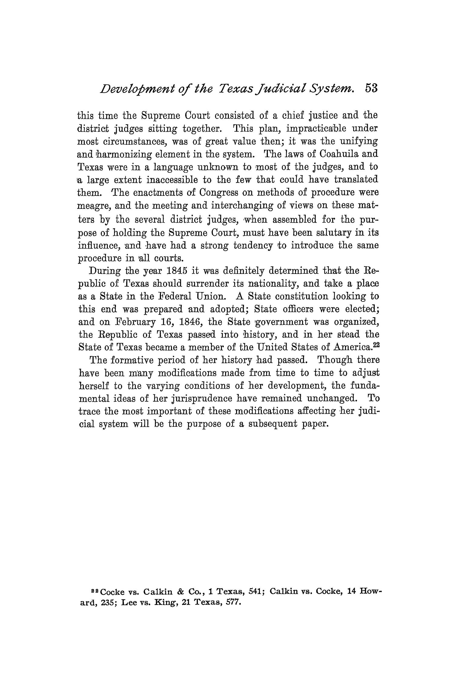 The Quarterly of the Texas State Historical Association, Volume 2, July 1898 - April, 1899                                                                                                      53