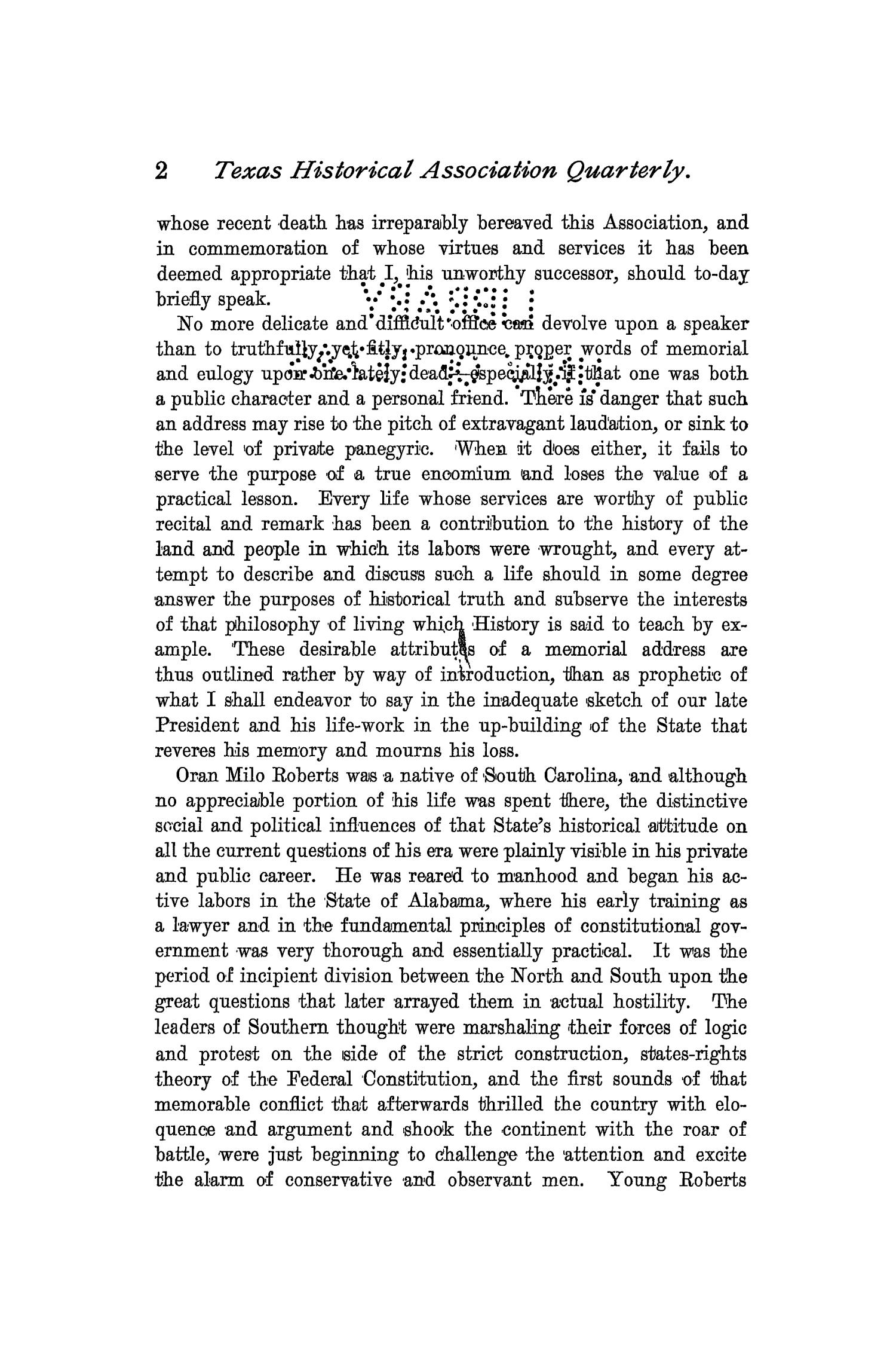 The Quarterly of the Texas State Historical Association, Volume 2, July 1898 - April, 1899                                                                                                      2