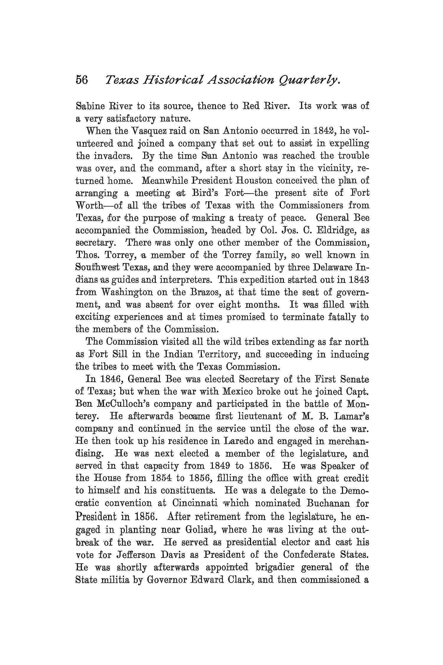 The Quarterly of the Texas State Historical Association, Volume 2, July 1898 - April, 1899                                                                                                      56