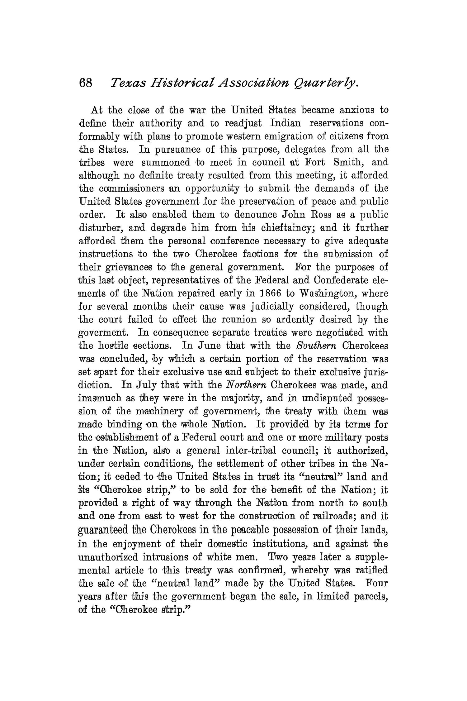 The Quarterly of the Texas State Historical Association, Volume 2, July 1898 - April, 1899                                                                                                      68