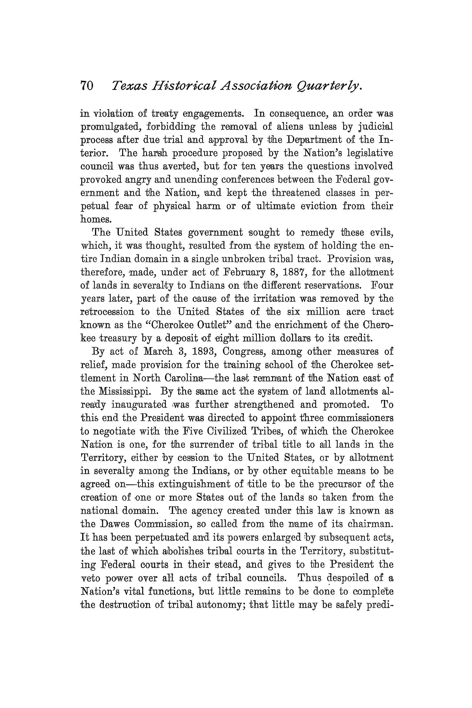 The Quarterly of the Texas State Historical Association, Volume 2, July 1898 - April, 1899                                                                                                      70