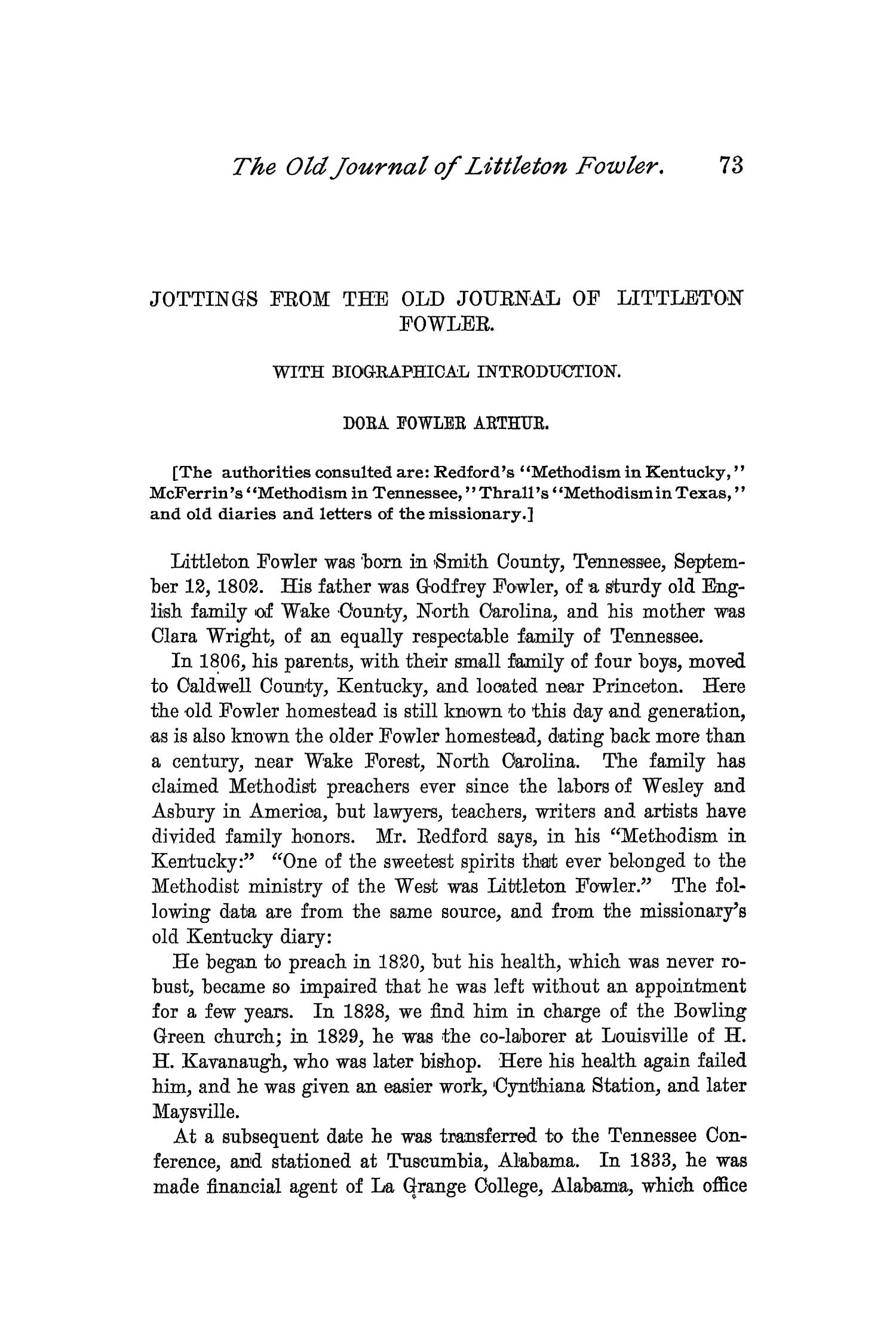 The Quarterly of the Texas State Historical Association, Volume 2, July 1898 - April, 1899                                                                                                      73