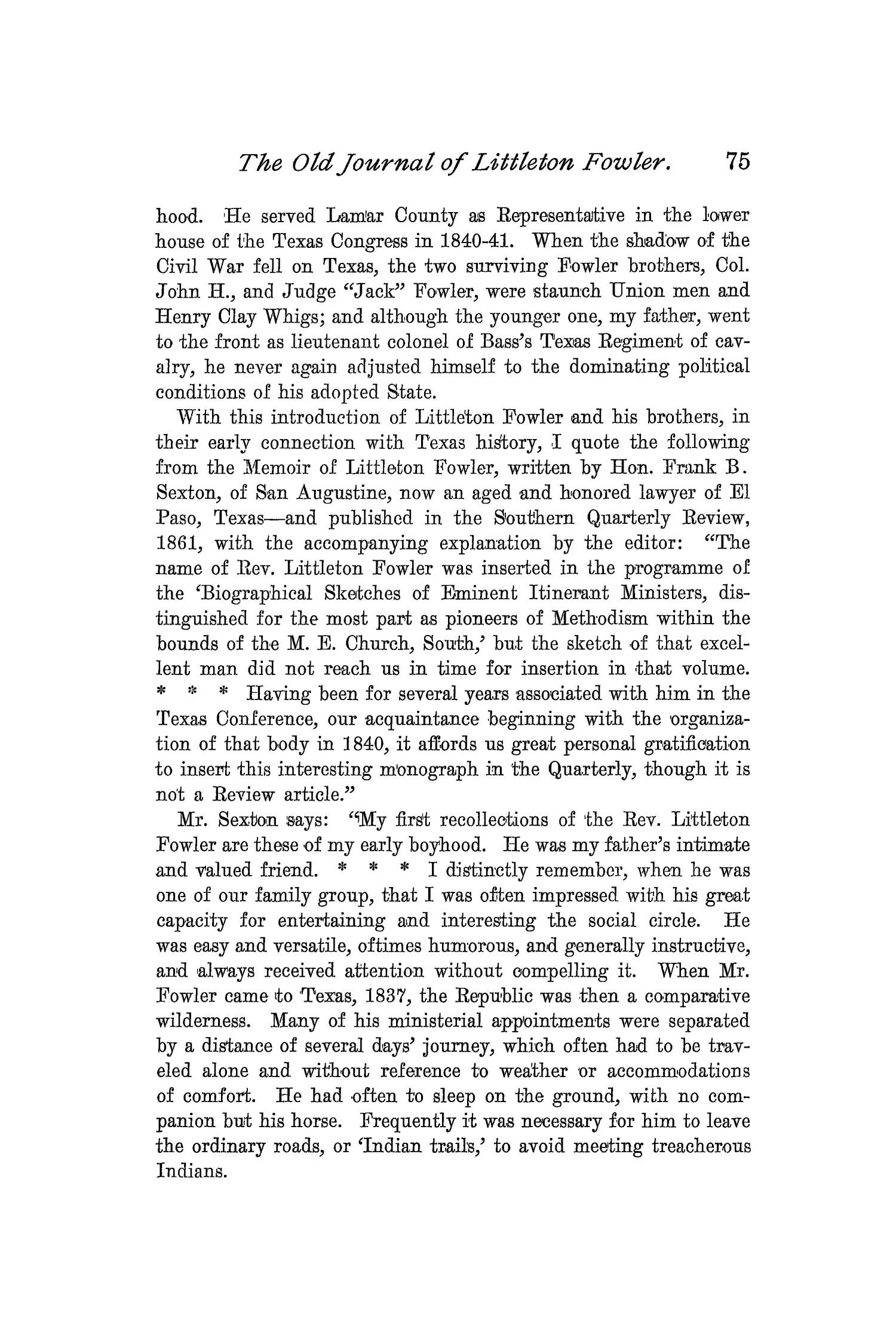 The Quarterly of the Texas State Historical Association, Volume 2, July 1898 - April, 1899                                                                                                      75