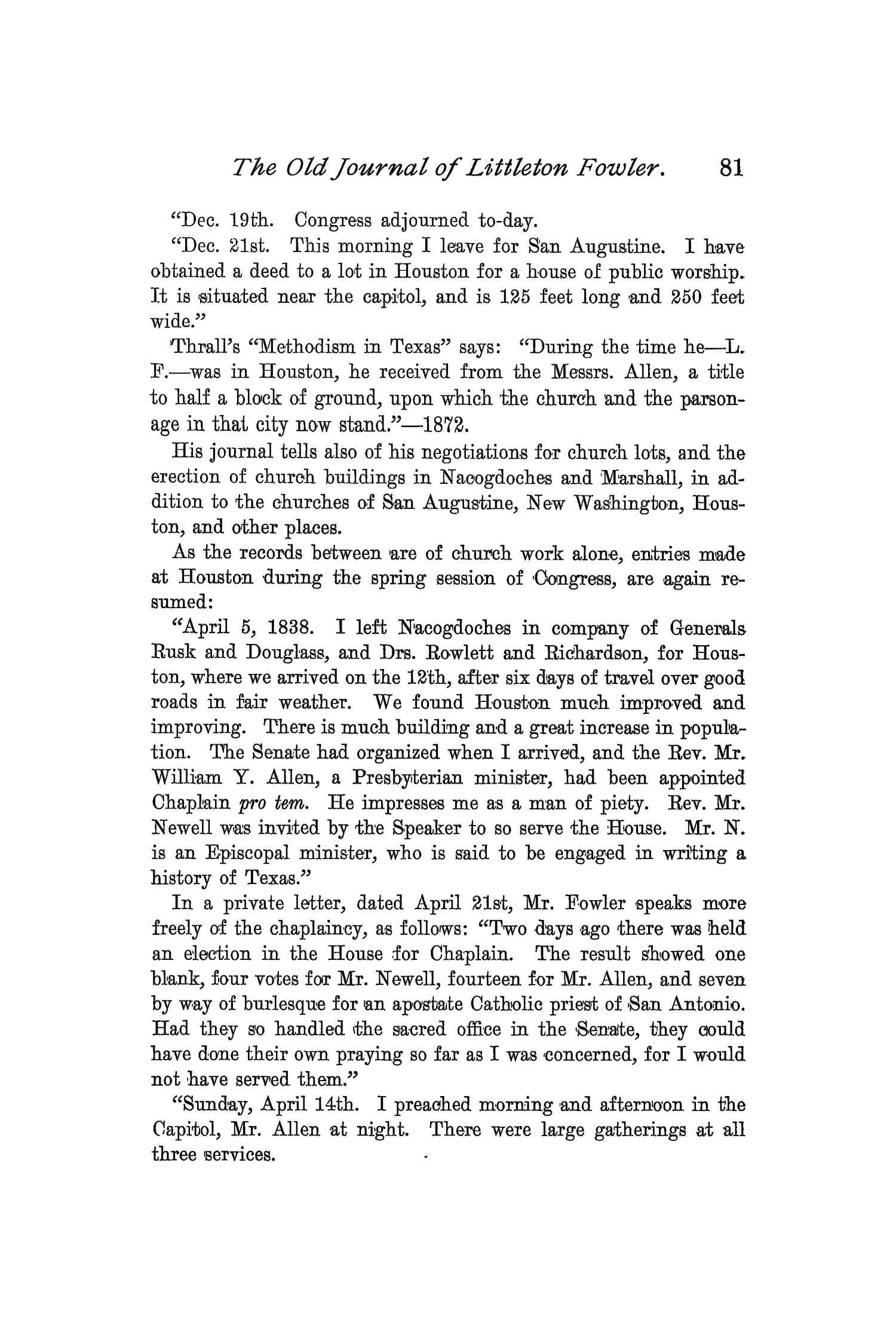 The Quarterly of the Texas State Historical Association, Volume 2, July 1898 - April, 1899                                                                                                      81