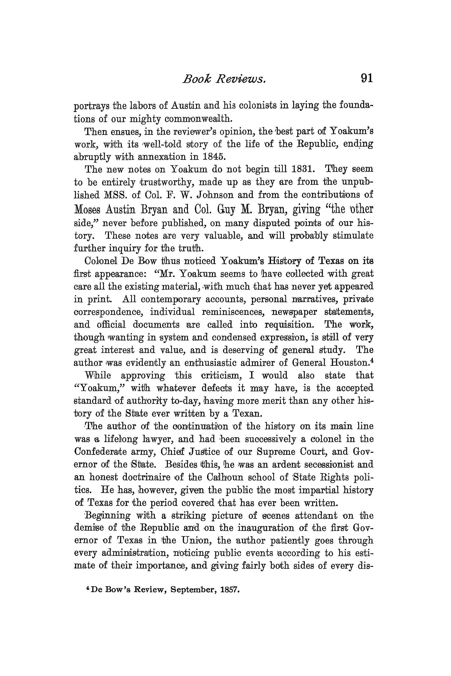 The Quarterly of the Texas State Historical Association, Volume 2, July 1898 - April, 1899                                                                                                      91