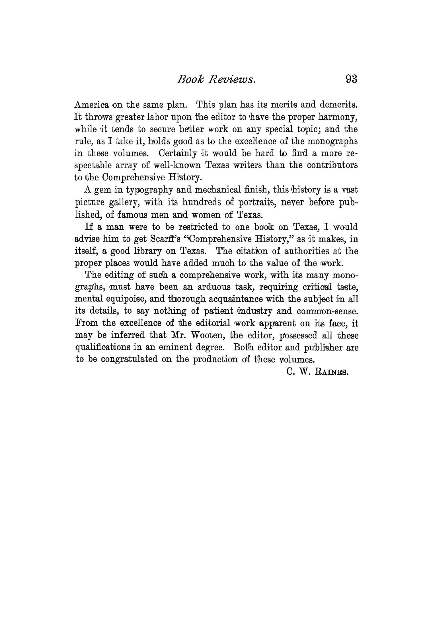 The Quarterly of the Texas State Historical Association, Volume 2, July 1898 - April, 1899                                                                                                      93