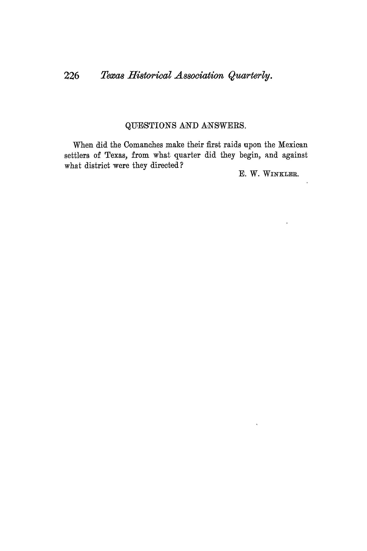 The Quarterly of the Texas State Historical Association, Volume 3, July 1899 - April, 1900                                                                                                      226