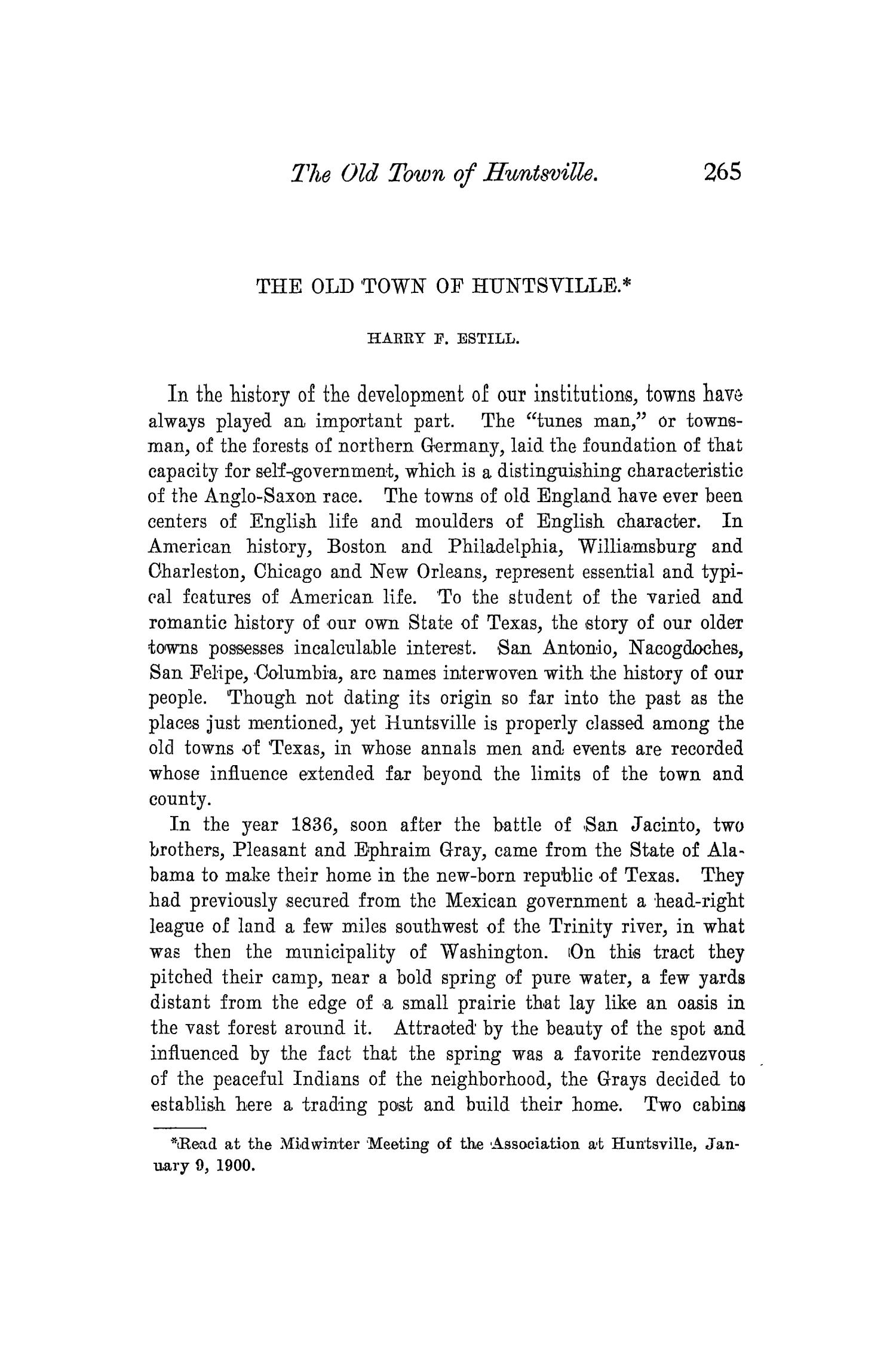 The Quarterly of the Texas State Historical Association, Volume 3, July 1899 - April, 1900                                                                                                      265