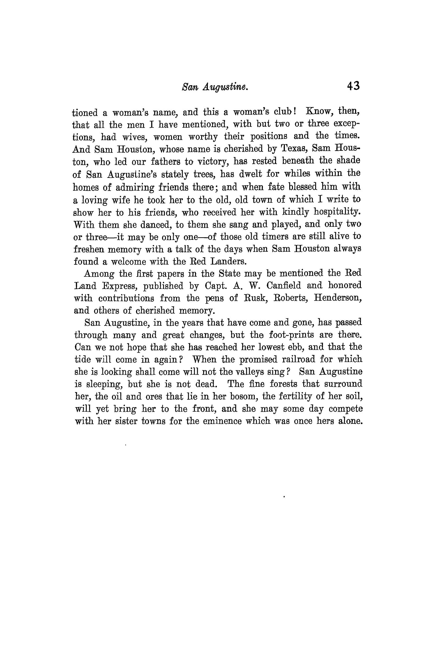 The Quarterly of the Texas State Historical Association, Volume 3, July 1899 - April, 1900                                                                                                      43