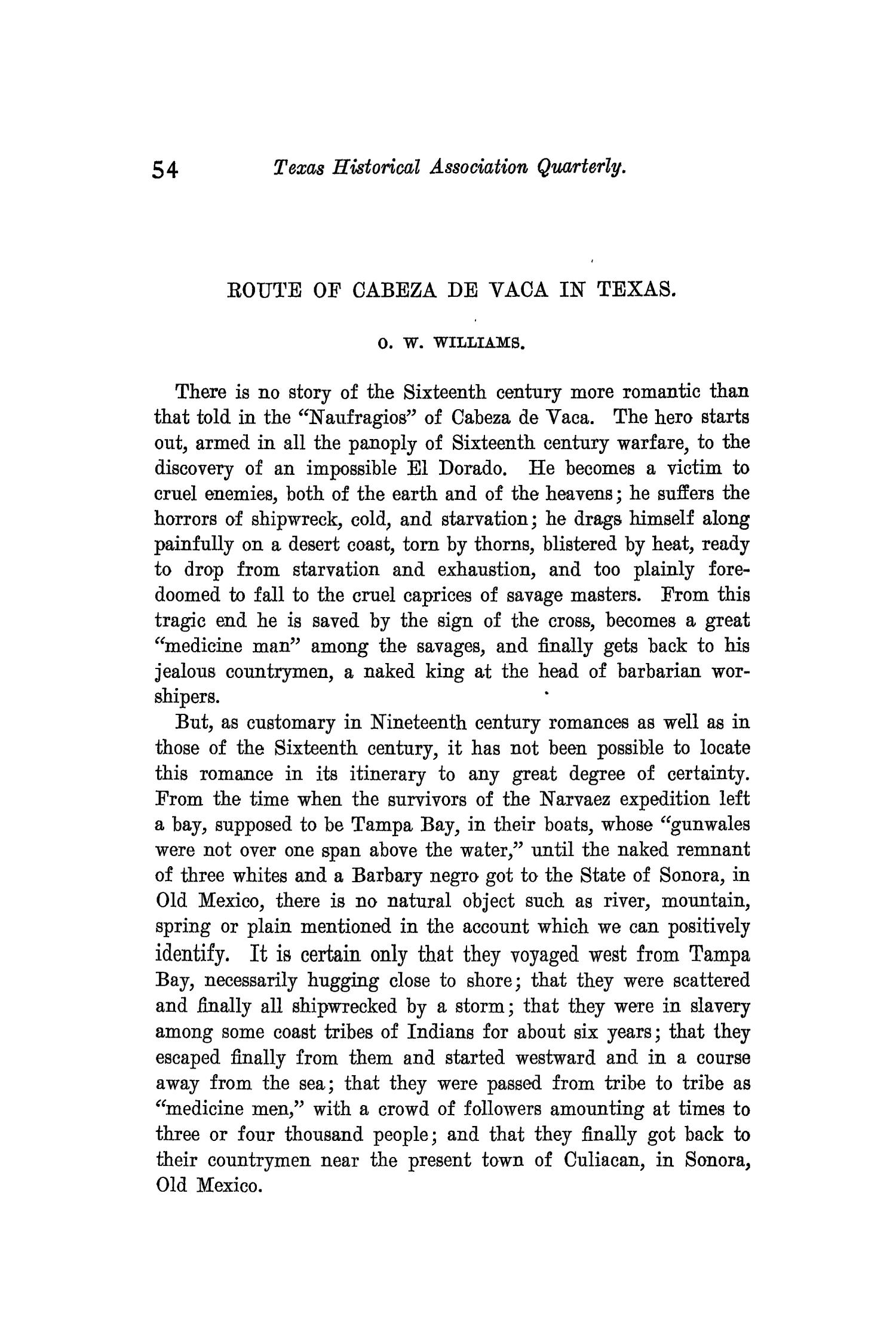 The Quarterly of the Texas State Historical Association, Volume 3, July 1899 - April, 1900                                                                                                      54