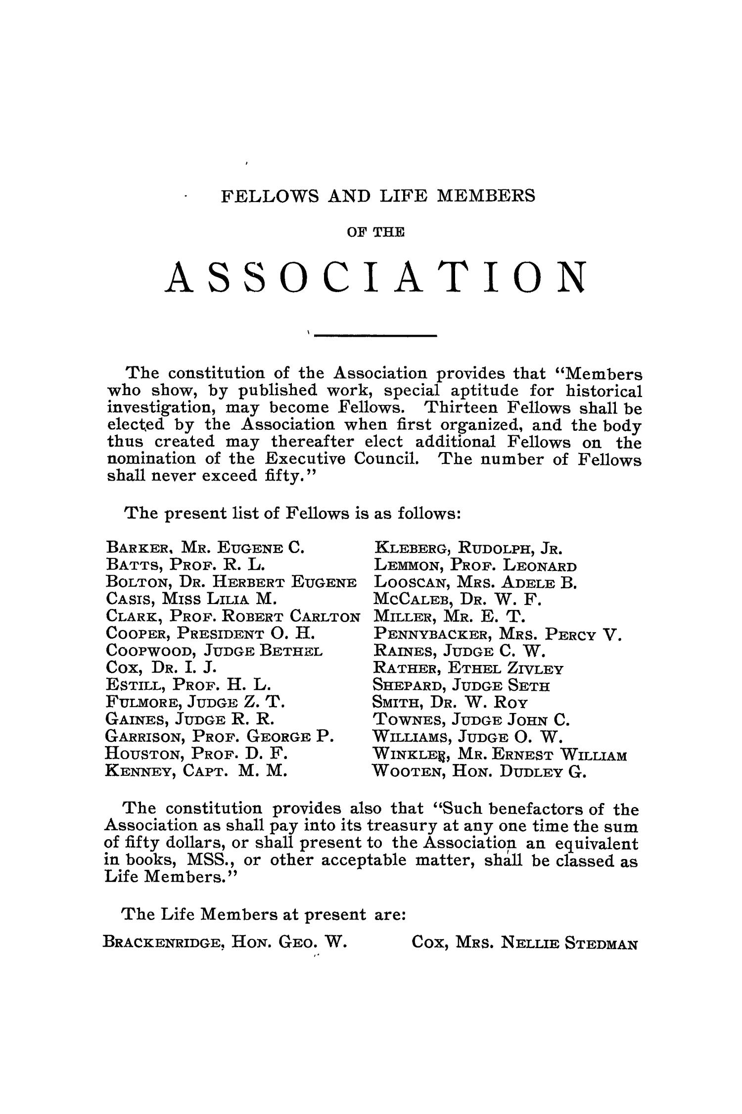 The Quarterly of the Texas State Historical Association, Volume 3, July 1899 - April, 1900                                                                                                      None