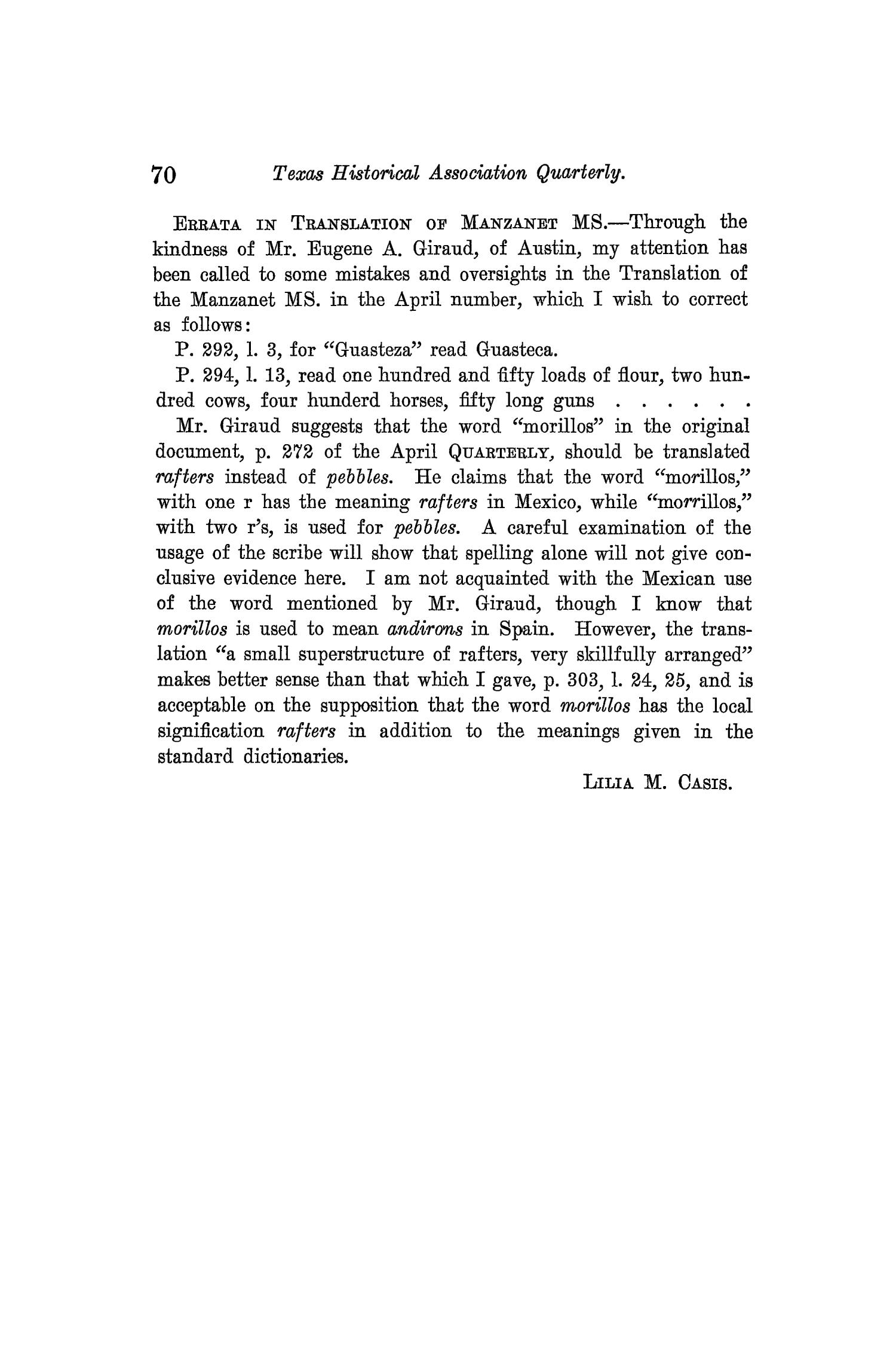 The Quarterly of the Texas State Historical Association, Volume 3, July 1899 - April, 1900                                                                                                      70