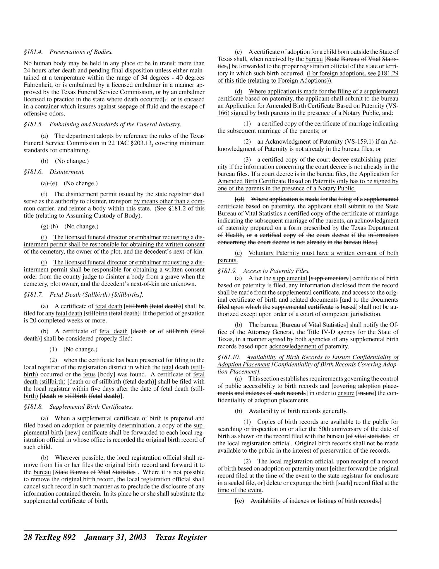 Texas register volume 28 number 5 pages 801 1014 january 31 texas register volume 28 number 5 pages 801 1014 january 31 2003 page 892 the portal to texas history aiddatafo Choice Image