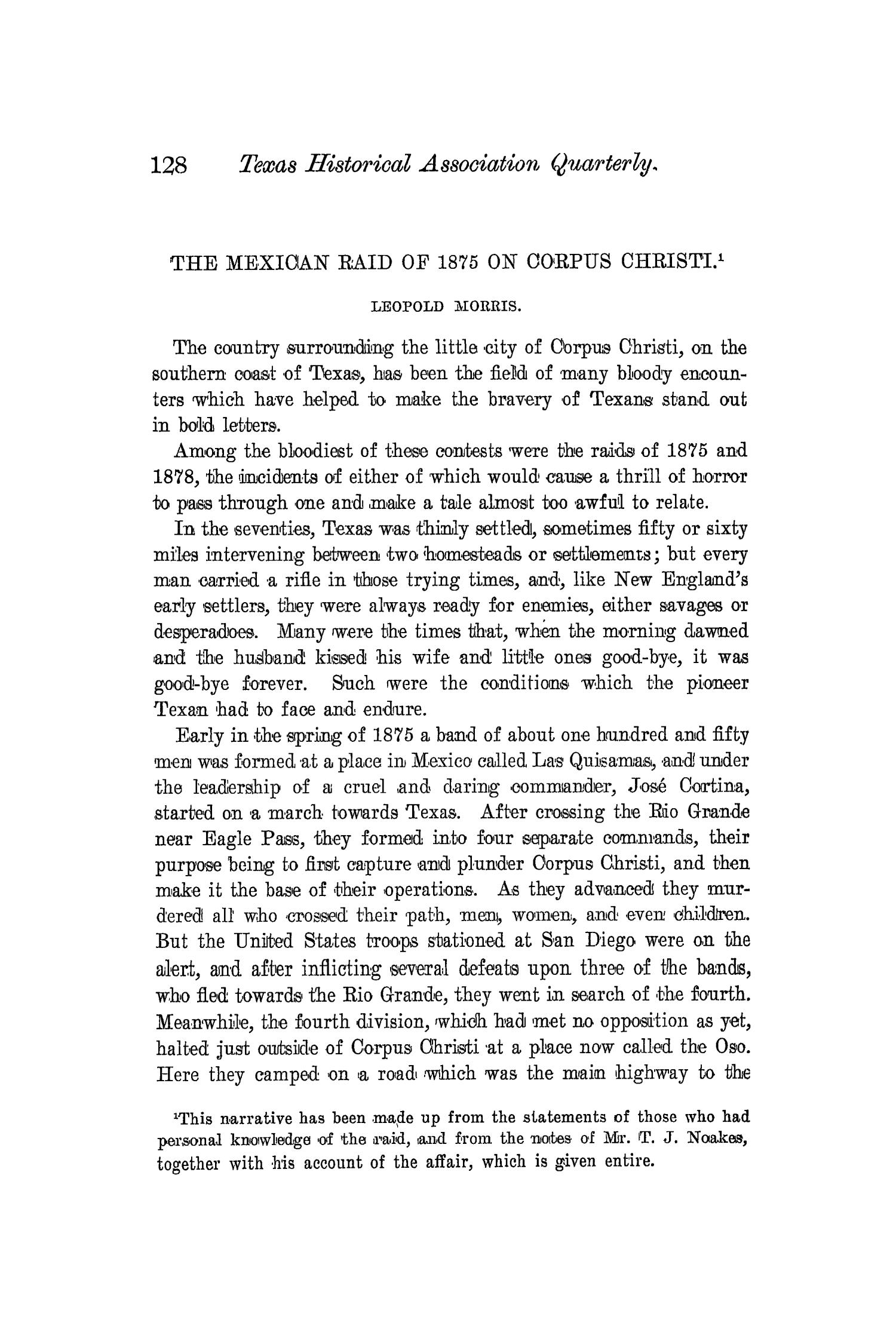 The Quarterly of the Texas State Historical Association, Volume 4, July 1900 - April, 1901                                                                                                      128