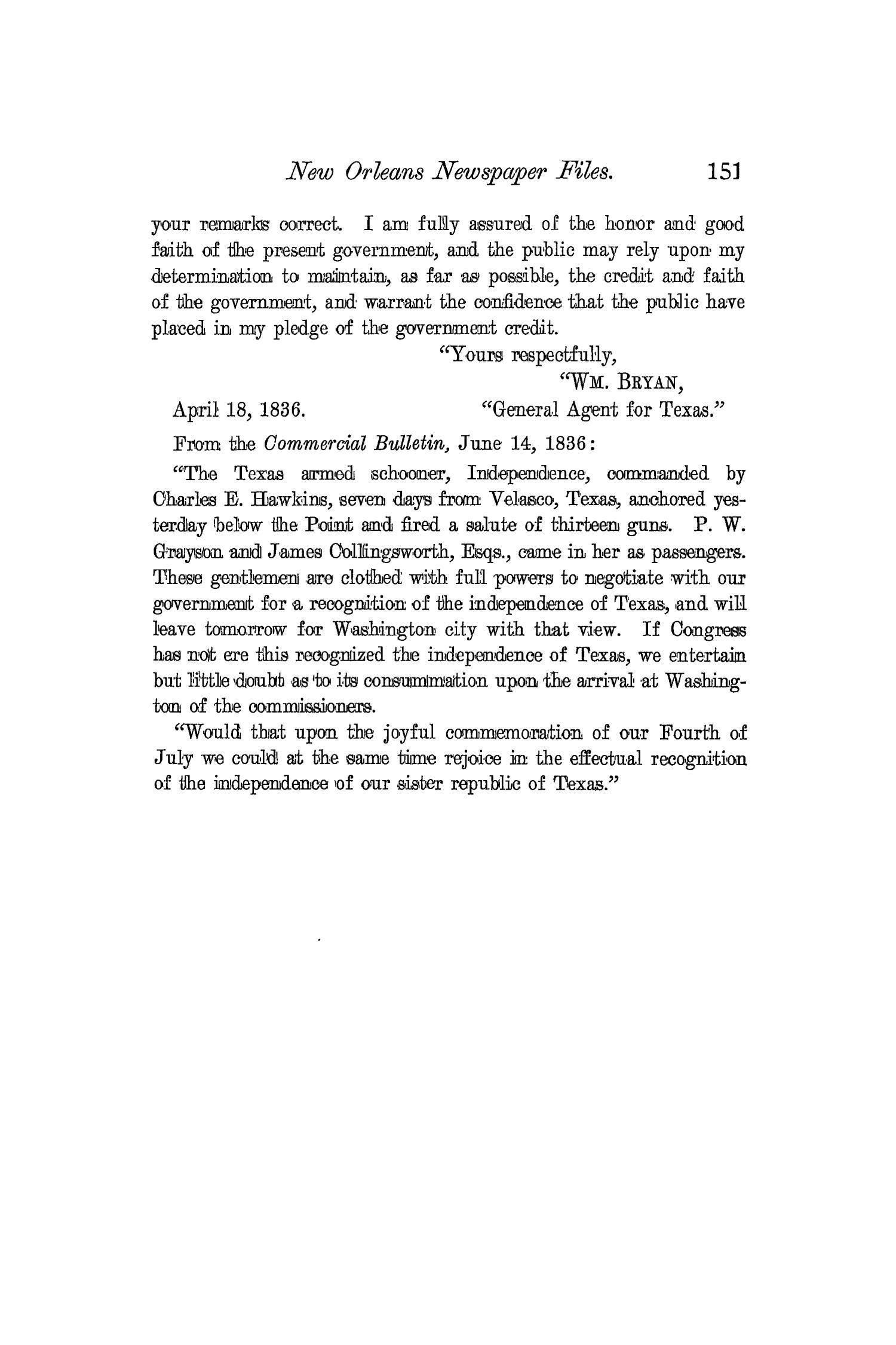 The Quarterly of the Texas State Historical Association, Volume 4, July 1900 - April, 1901                                                                                                      151