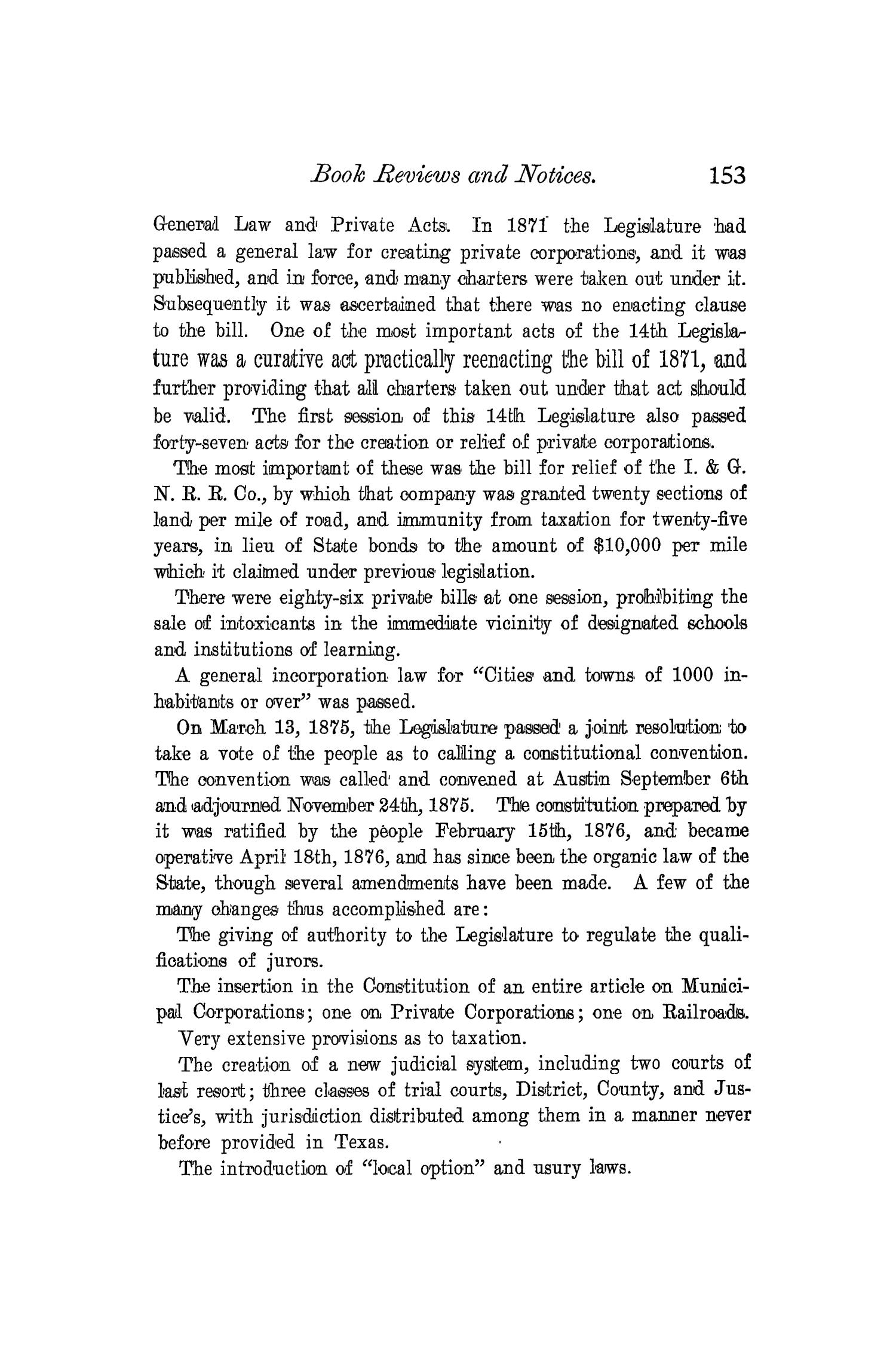 The Quarterly of the Texas State Historical Association, Volume 4, July 1900 - April, 1901                                                                                                      153