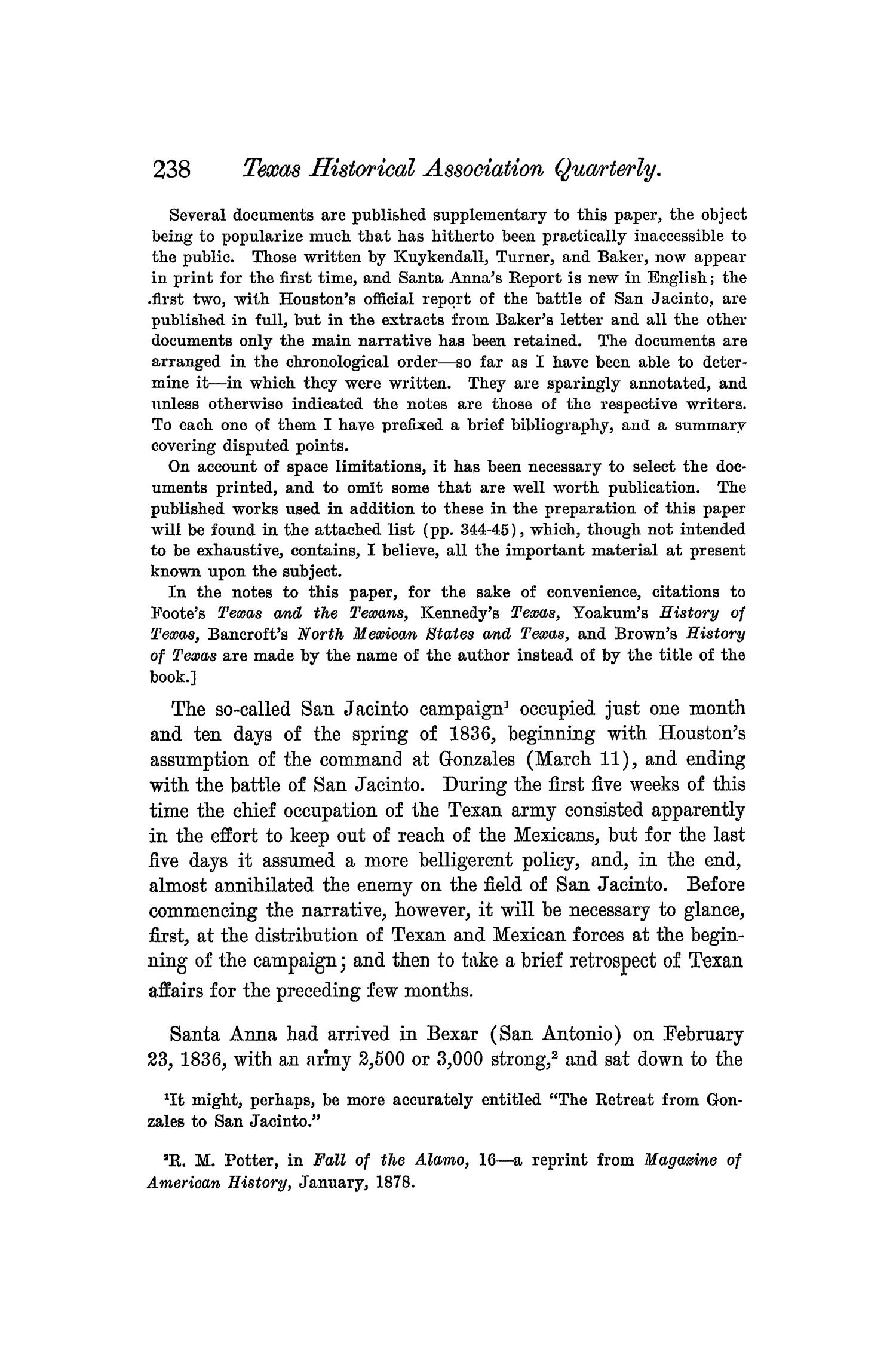 The Quarterly of the Texas State Historical Association, Volume 4, July 1900 - April, 1901                                                                                                      238