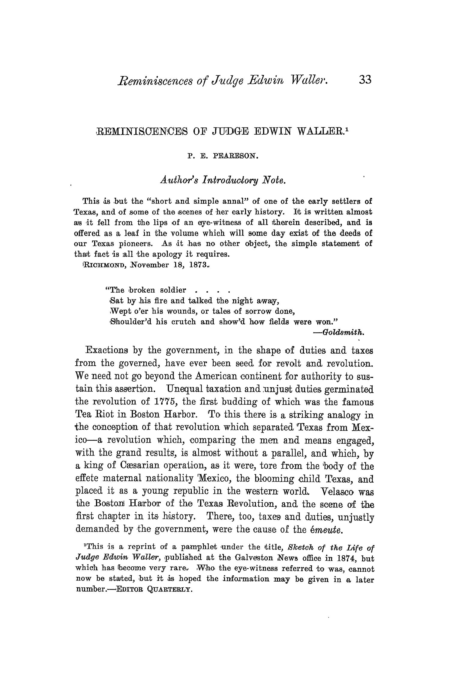 The Quarterly of the Texas State Historical Association, Volume 4, July 1900 - April, 1901                                                                                                      33