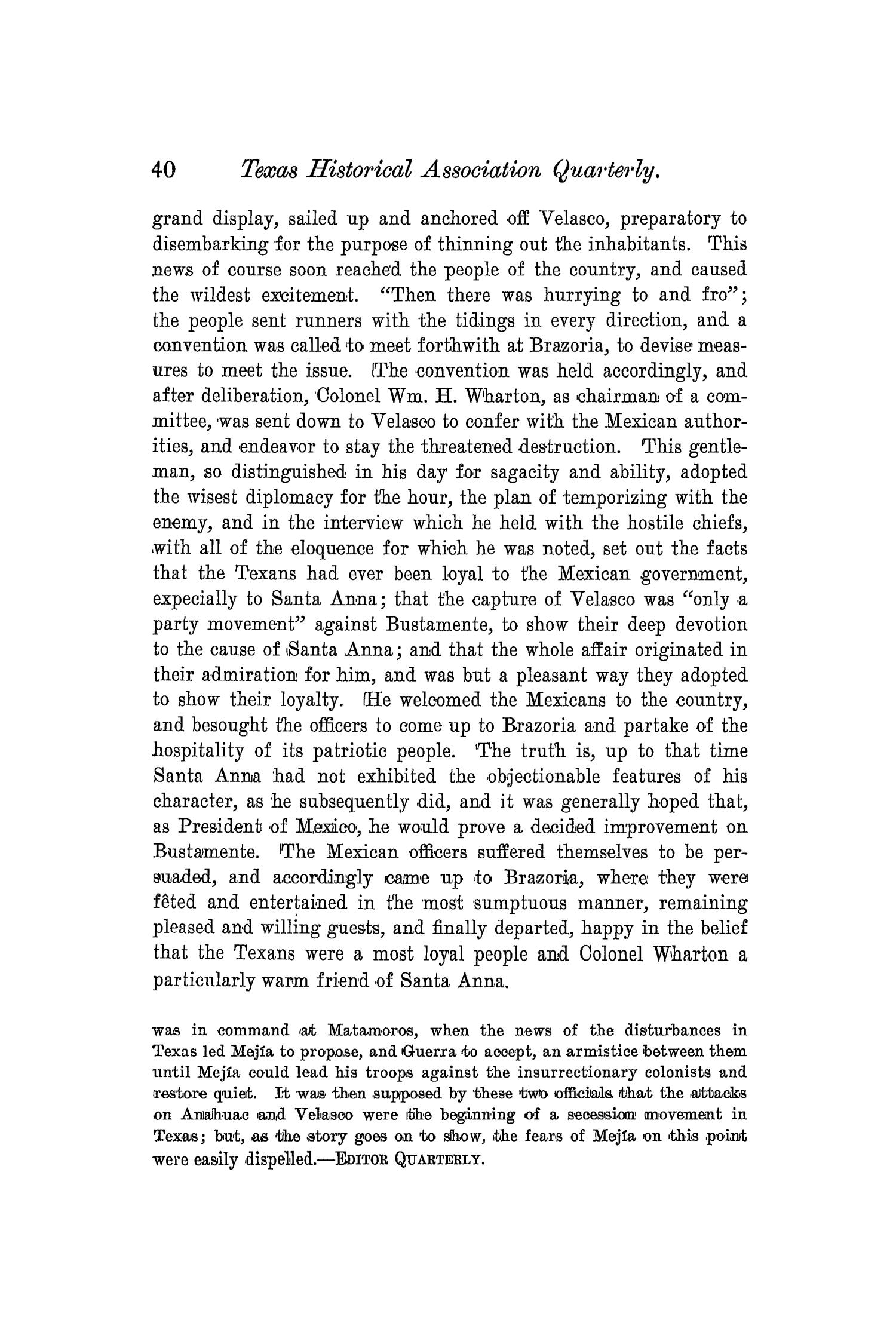 The Quarterly of the Texas State Historical Association, Volume 4, July 1900 - April, 1901                                                                                                      40
