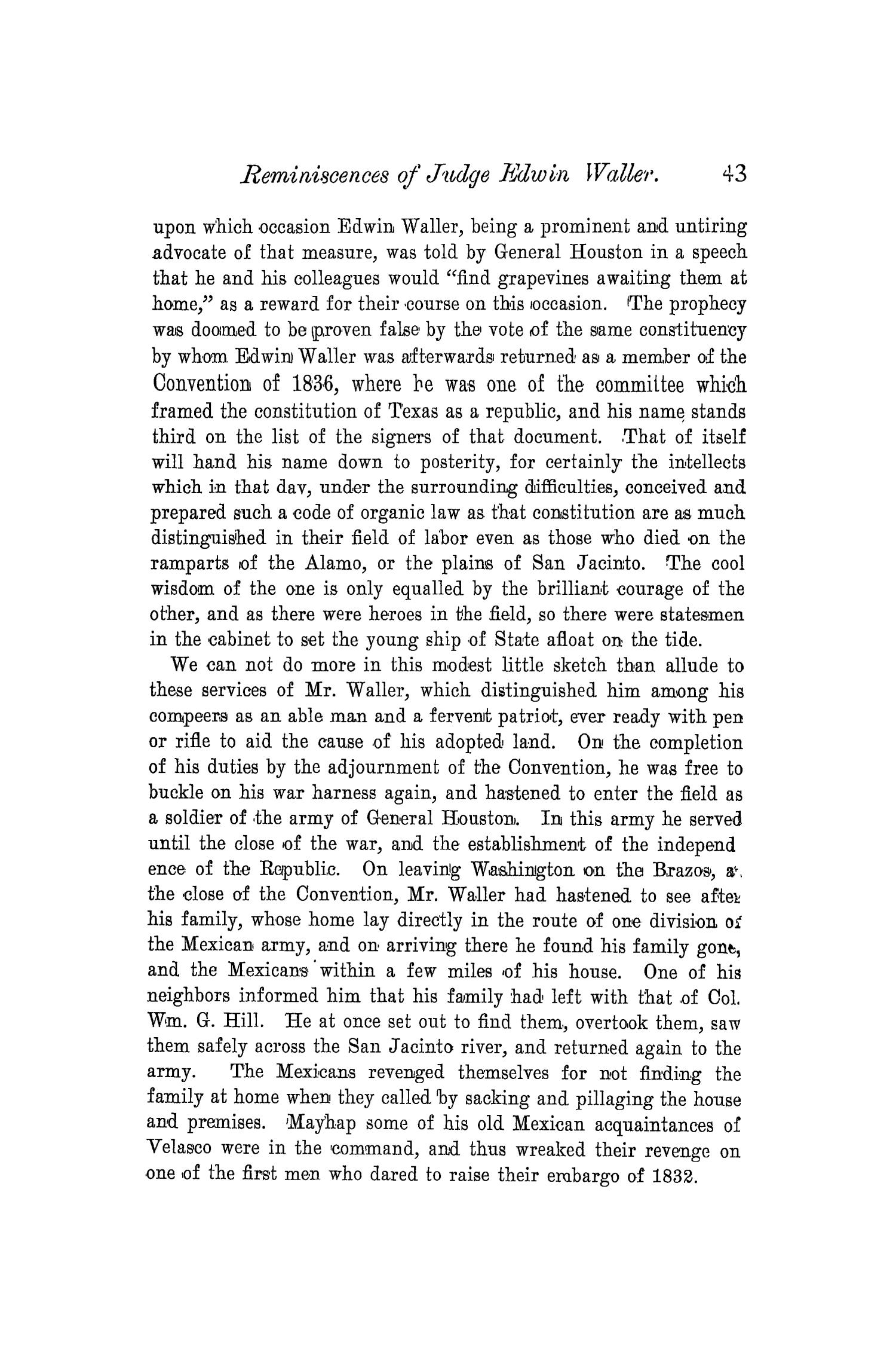 The Quarterly of the Texas State Historical Association, Volume 4, July 1900 - April, 1901                                                                                                      43