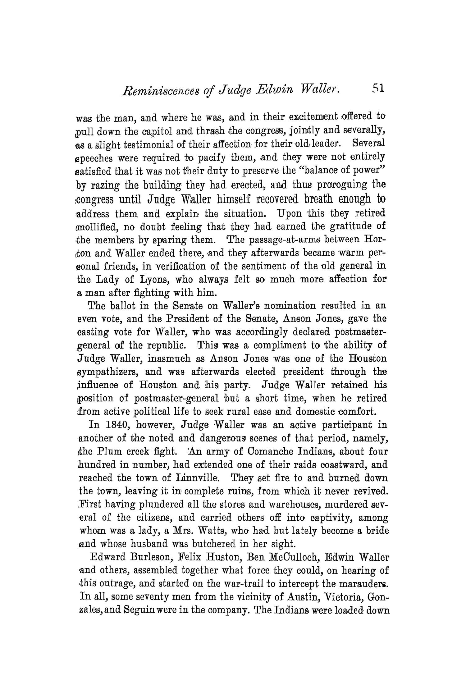 The Quarterly of the Texas State Historical Association, Volume 4, July 1900 - April, 1901                                                                                                      51