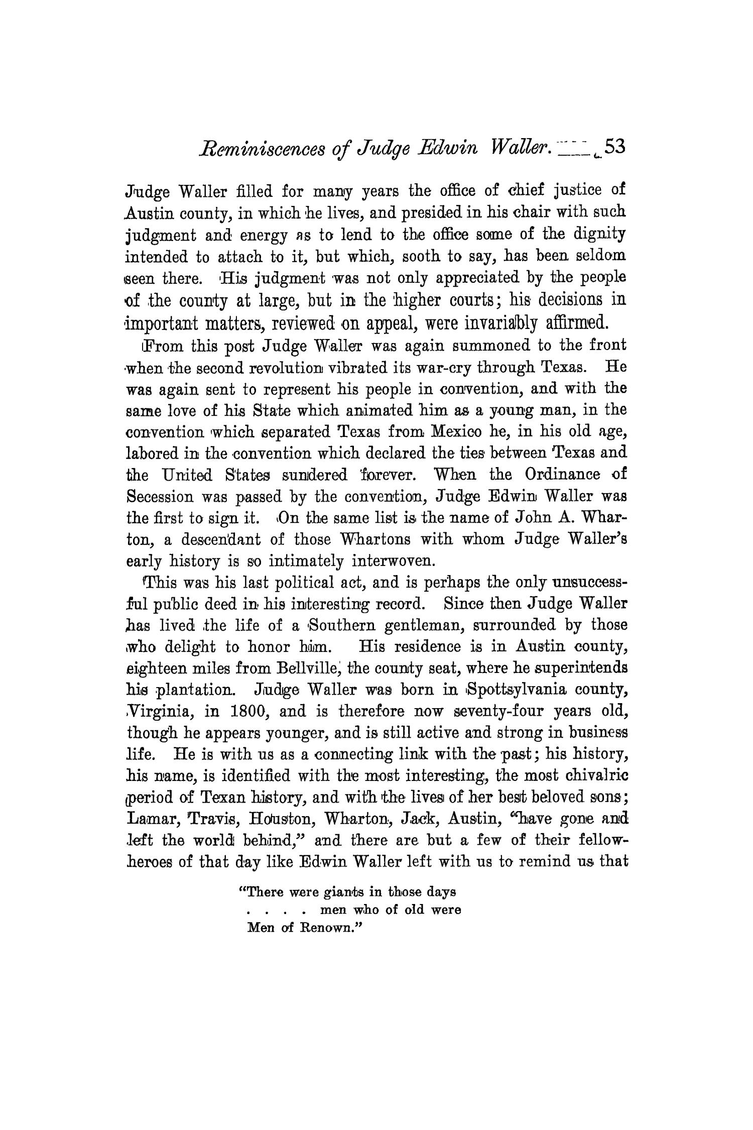 The Quarterly of the Texas State Historical Association, Volume 4, July 1900 - April, 1901                                                                                                      53