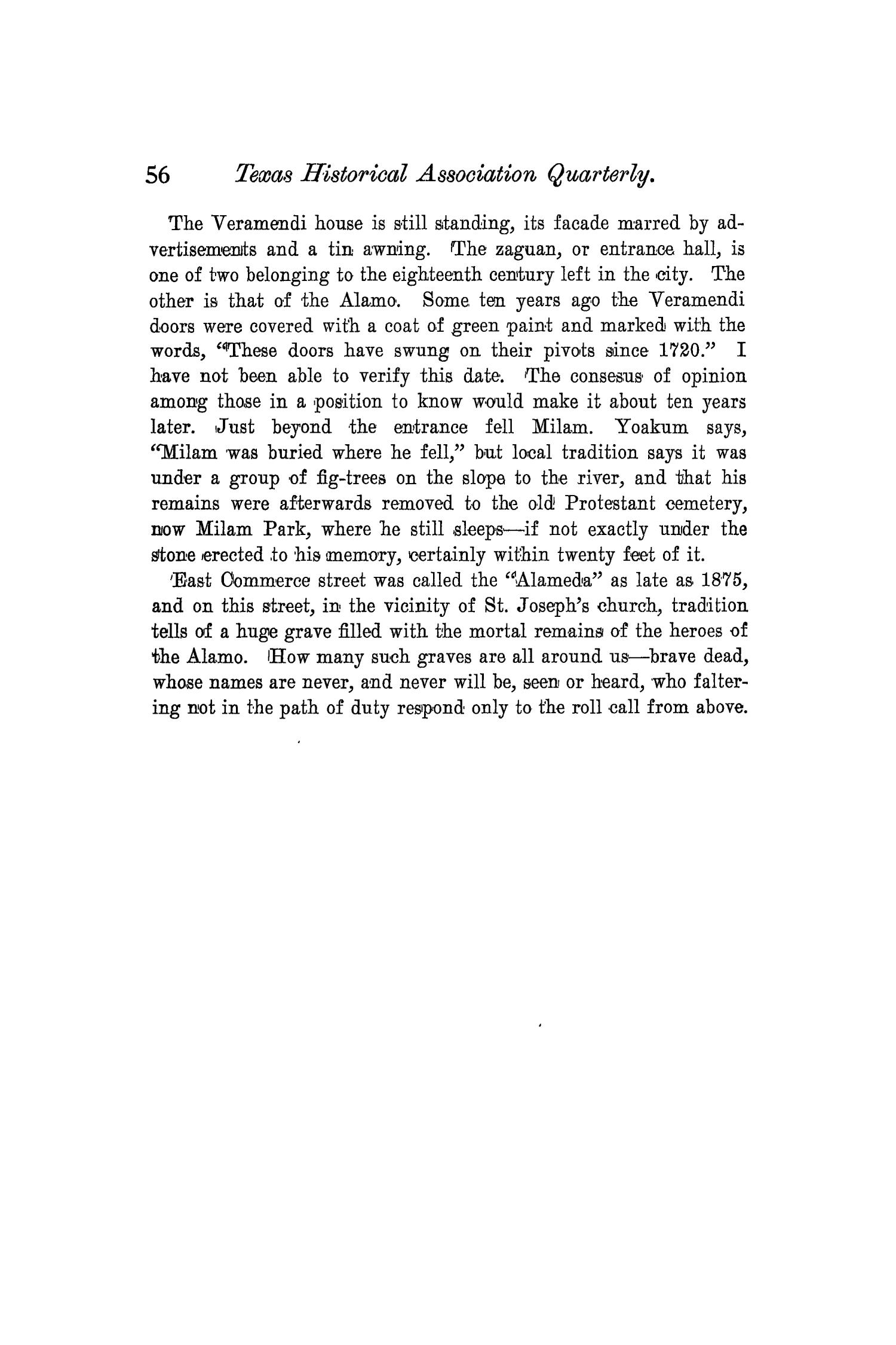 The Quarterly of the Texas State Historical Association, Volume 4, July 1900 - April, 1901                                                                                                      56