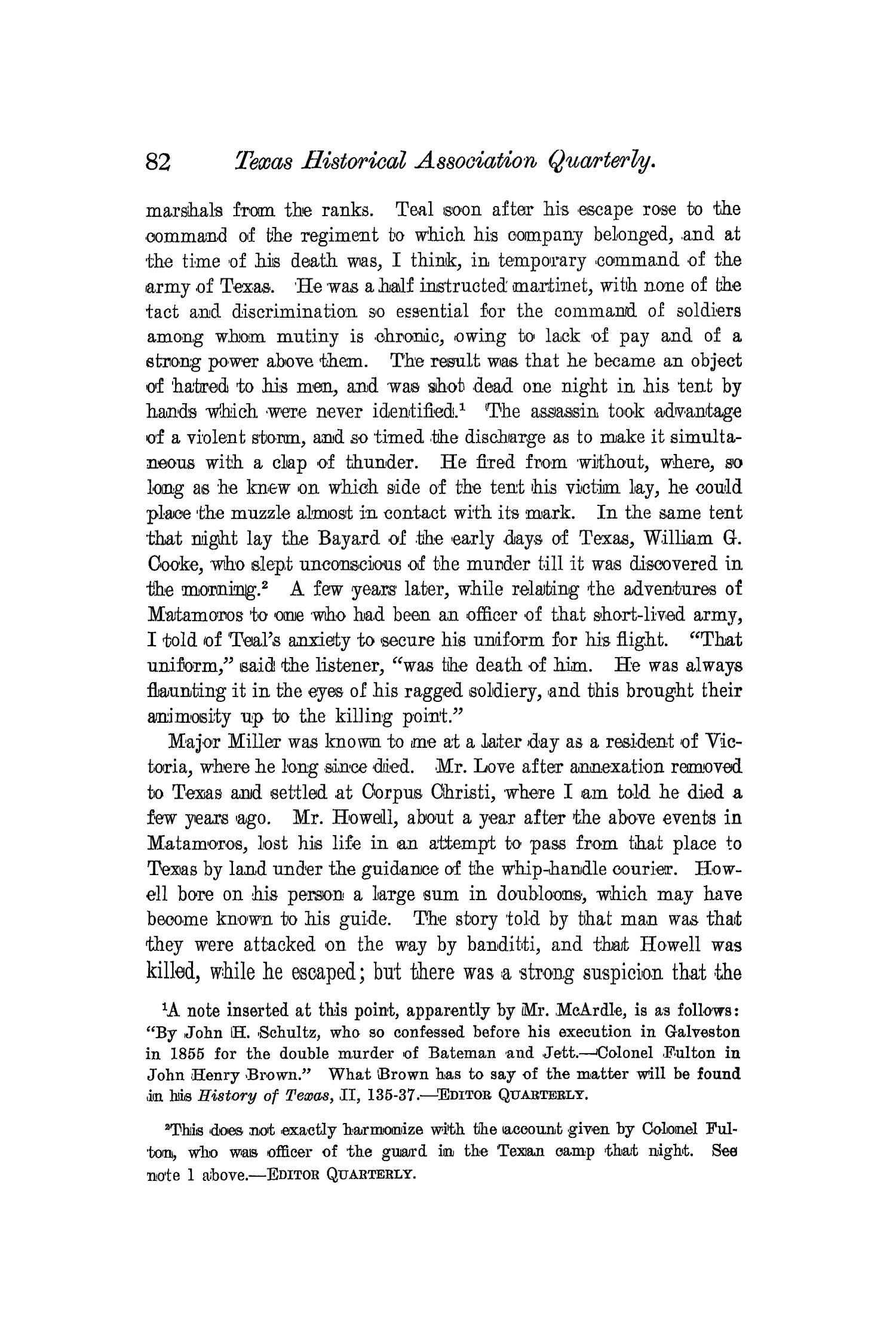 The Quarterly of the Texas State Historical Association, Volume 4, July 1900 - April, 1901                                                                                                      82