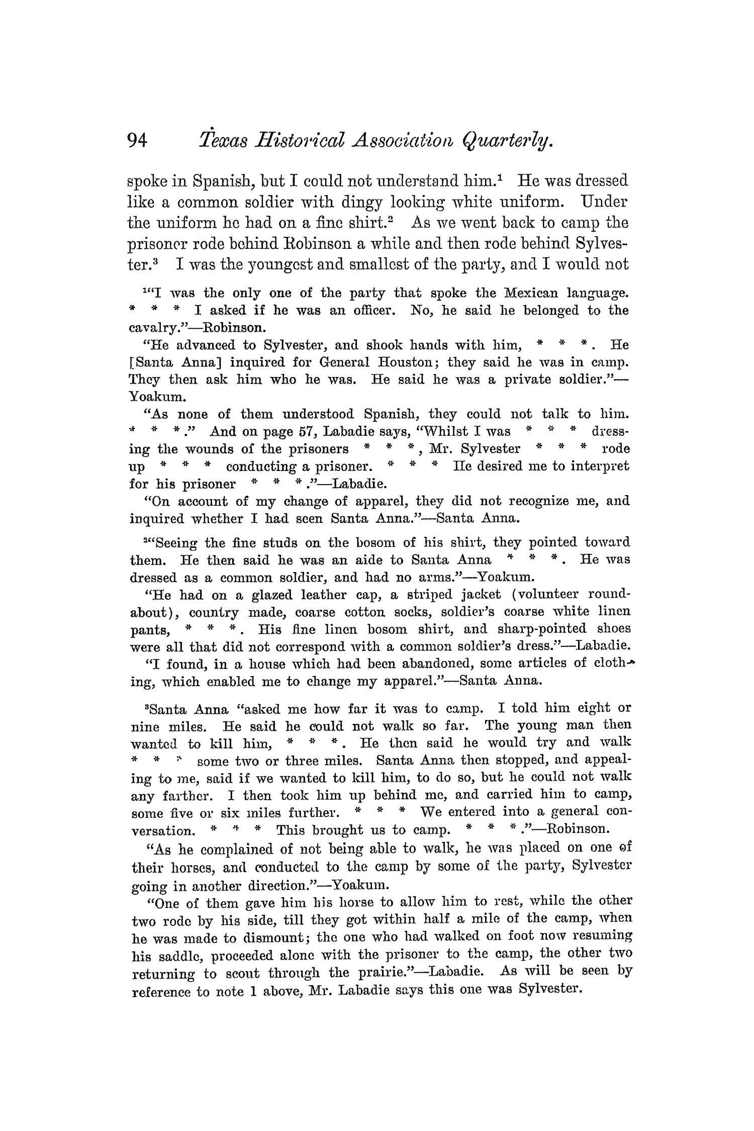 The Quarterly of the Texas State Historical Association, Volume 5, July 1901 - April, 1902                                                                                                      94