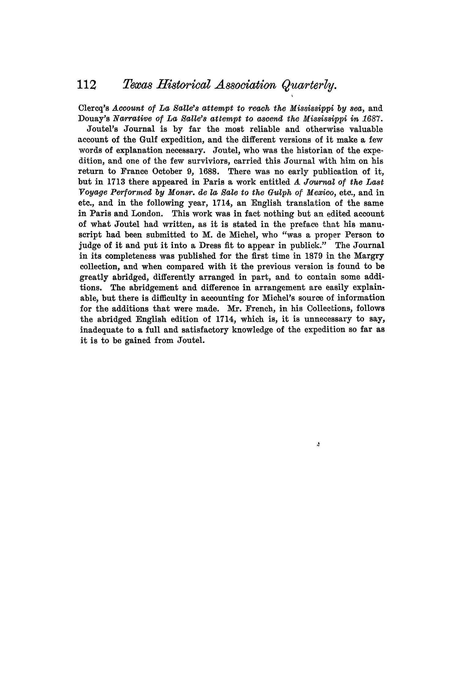 The Quarterly of the Texas State Historical Association, Volume 5, July 1901 - April, 1902                                                                                                      112