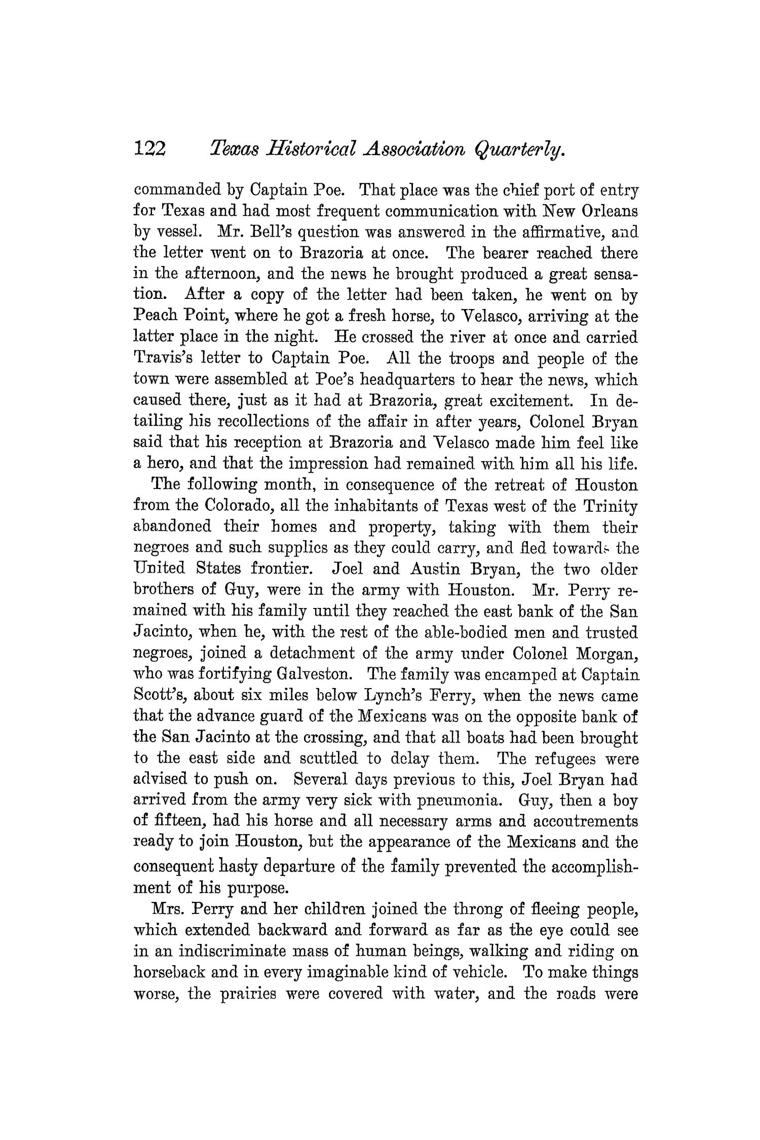 The Quarterly of the Texas State Historical Association, Volume 5, July 1901 - April, 1902                                                                                                      122