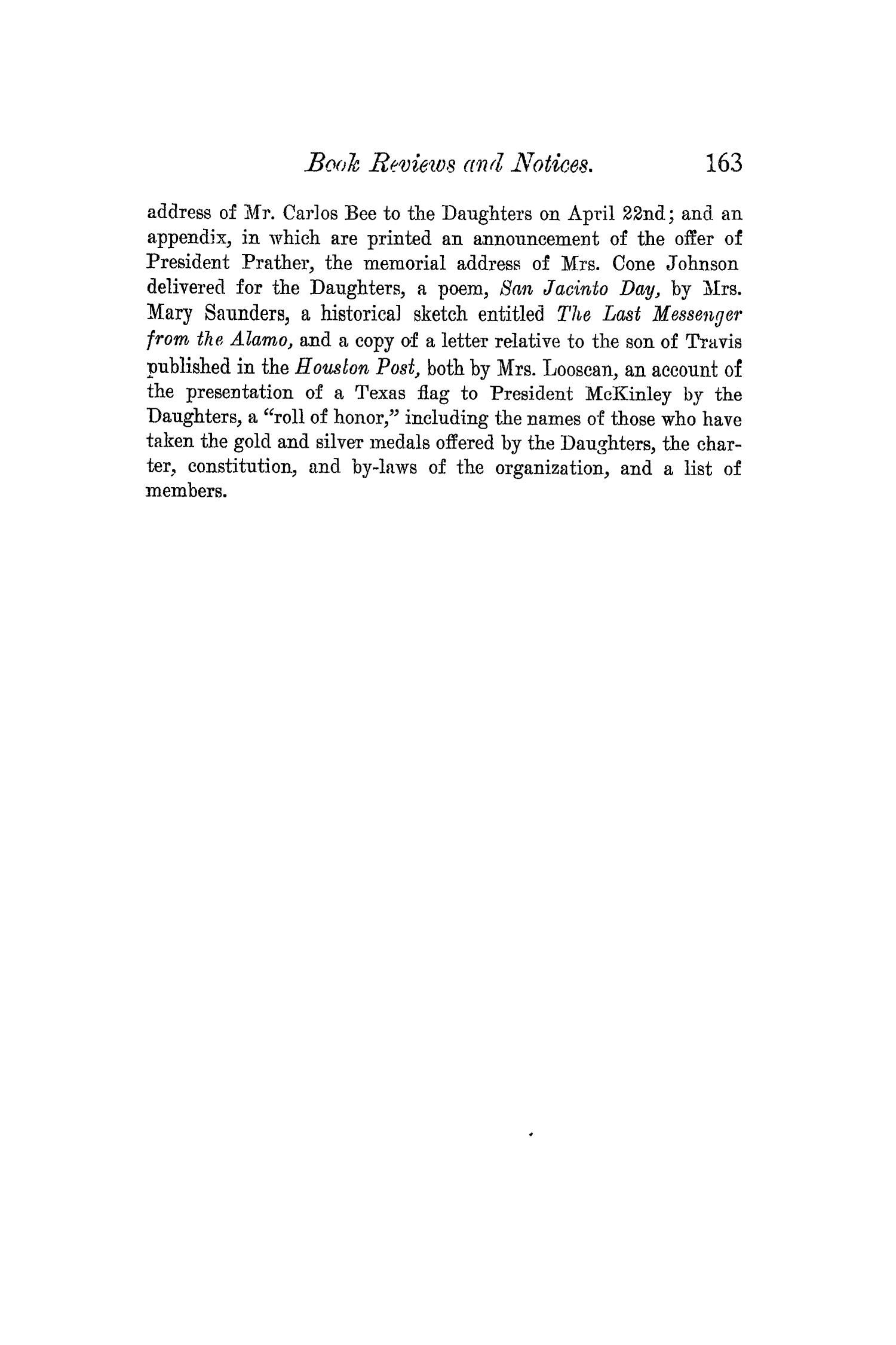 The Quarterly of the Texas State Historical Association, Volume 5, July 1901 - April, 1902                                                                                                      163