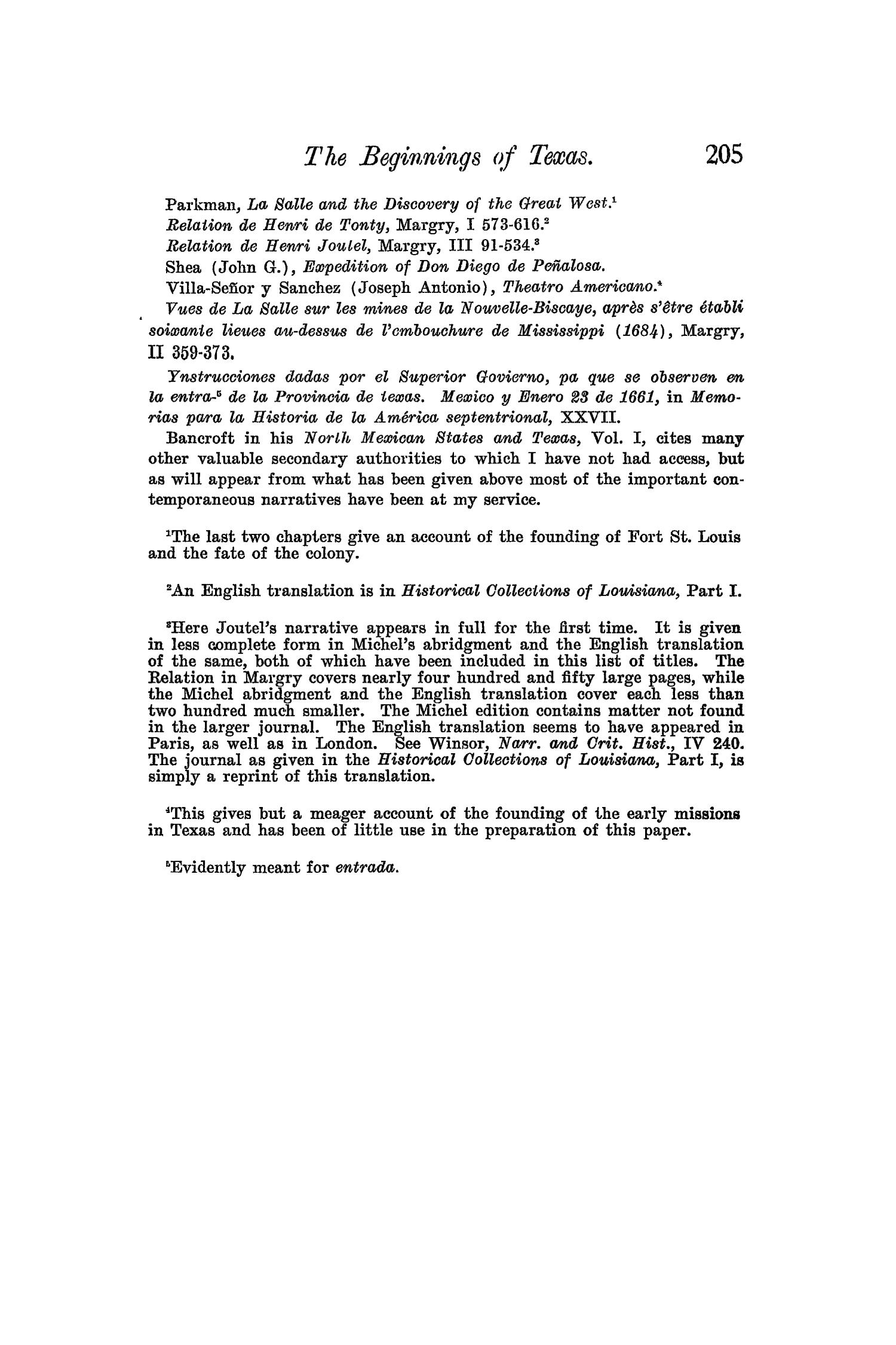 The Quarterly of the Texas State Historical Association, Volume 5, July 1901 - April, 1902                                                                                                      205