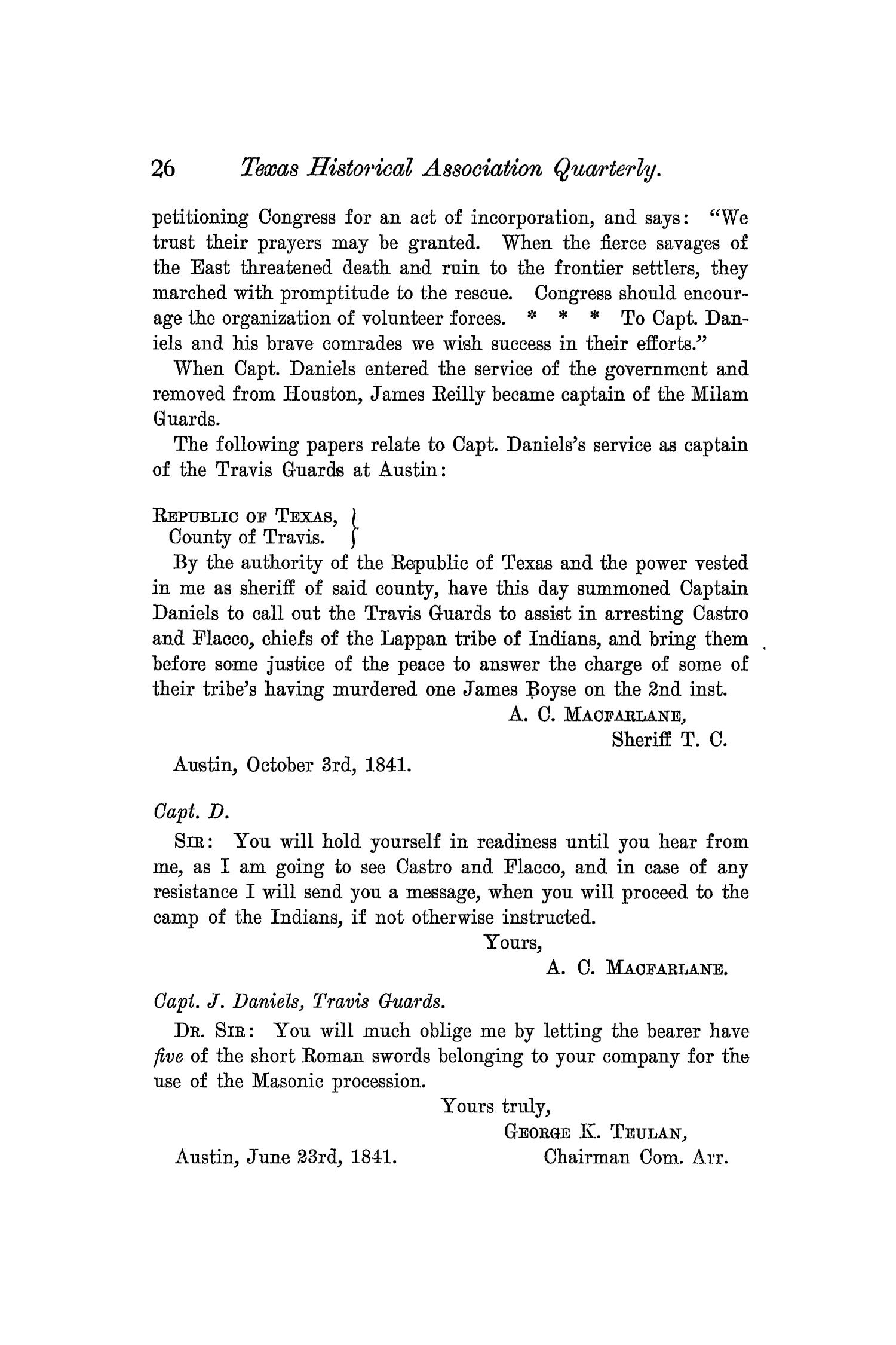The Quarterly of the Texas State Historical Association, Volume 5, July 1901 - April, 1902                                                                                                      26