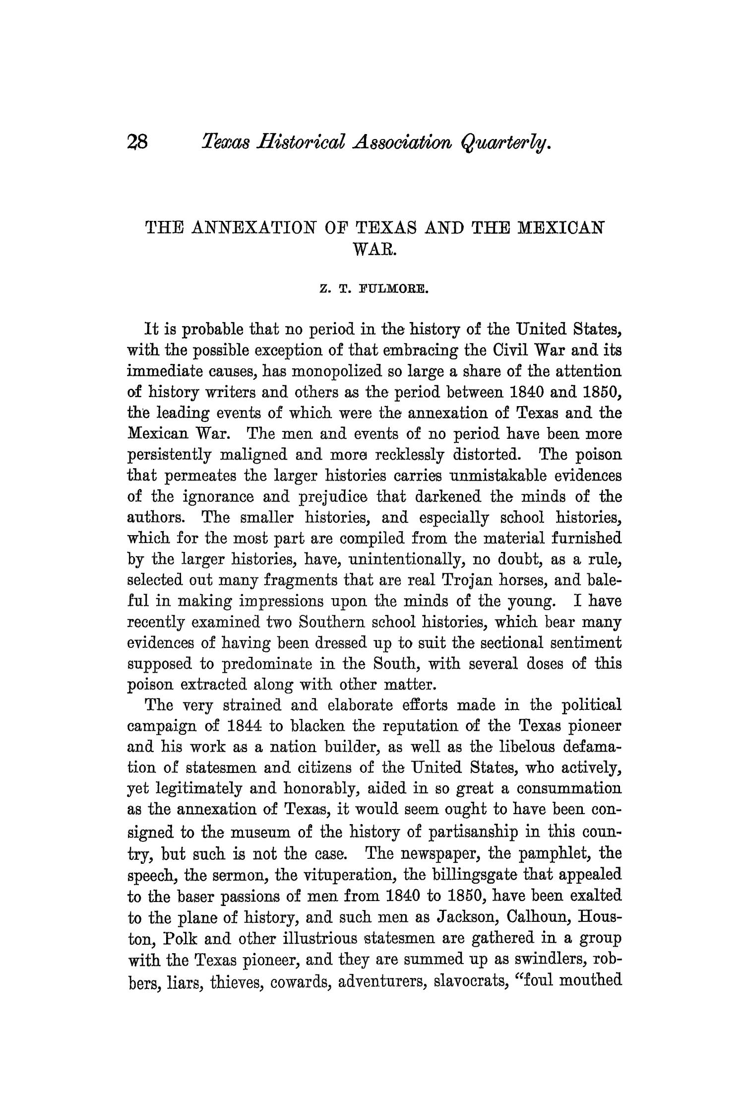 The Quarterly of the Texas State Historical Association, Volume 5, July 1901 - April, 1902                                                                                                      28