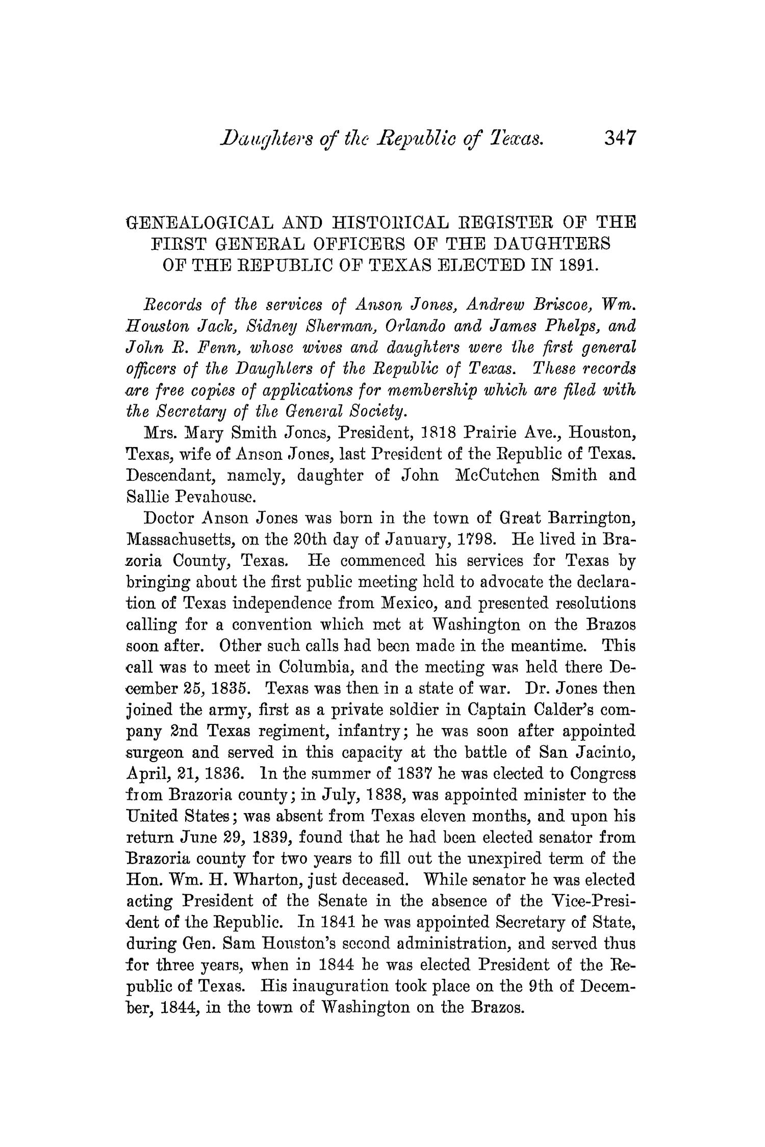 The Quarterly of the Texas State Historical Association, Volume 5, July 1901 - April, 1902                                                                                                      347