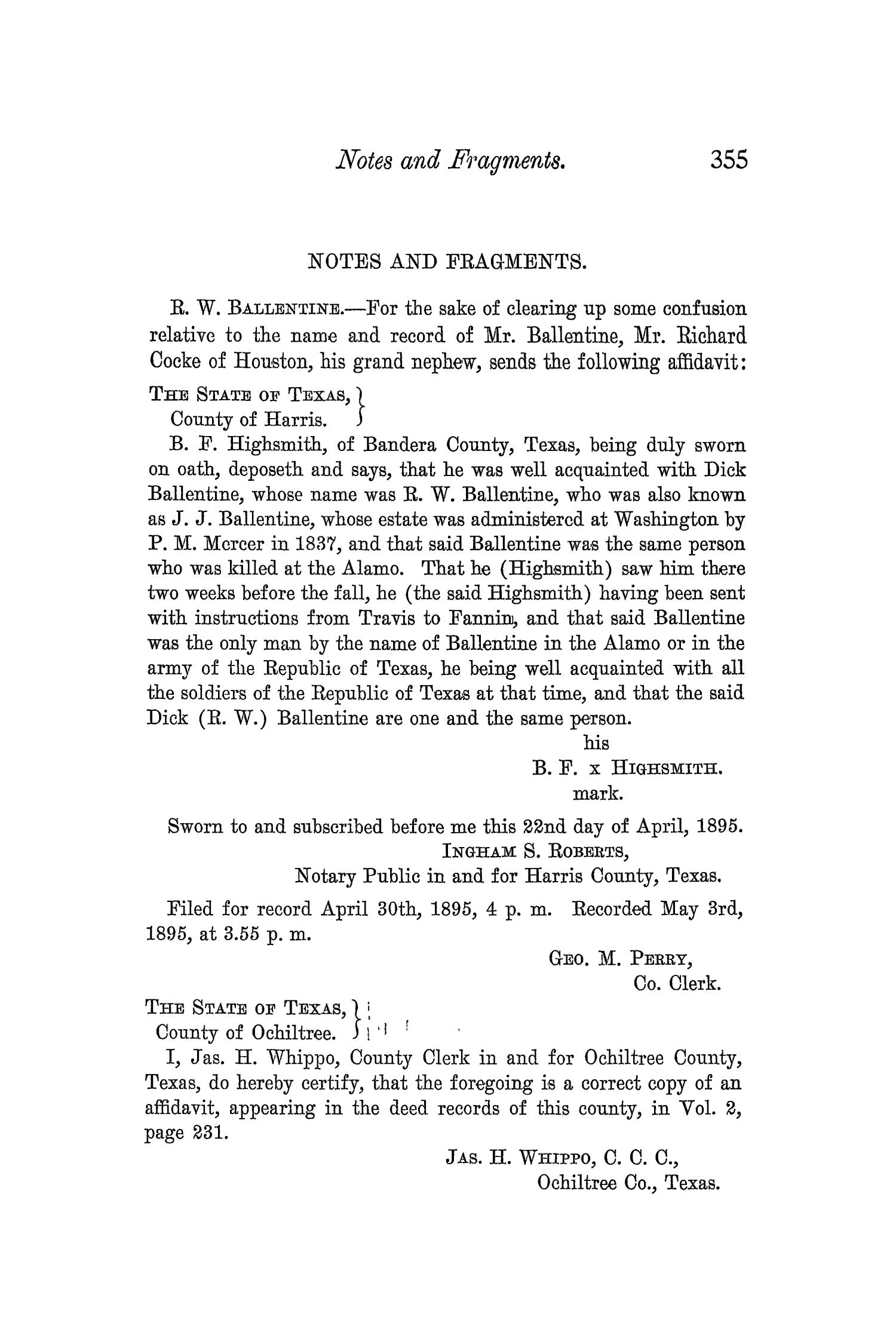 The Quarterly of the Texas State Historical Association, Volume 5, July 1901 - April, 1902                                                                                                      355