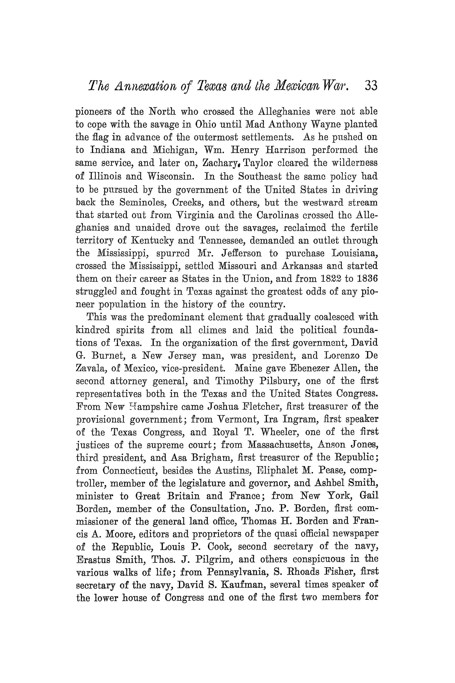 The Quarterly of the Texas State Historical Association, Volume 5, July 1901 - April, 1902                                                                                                      33