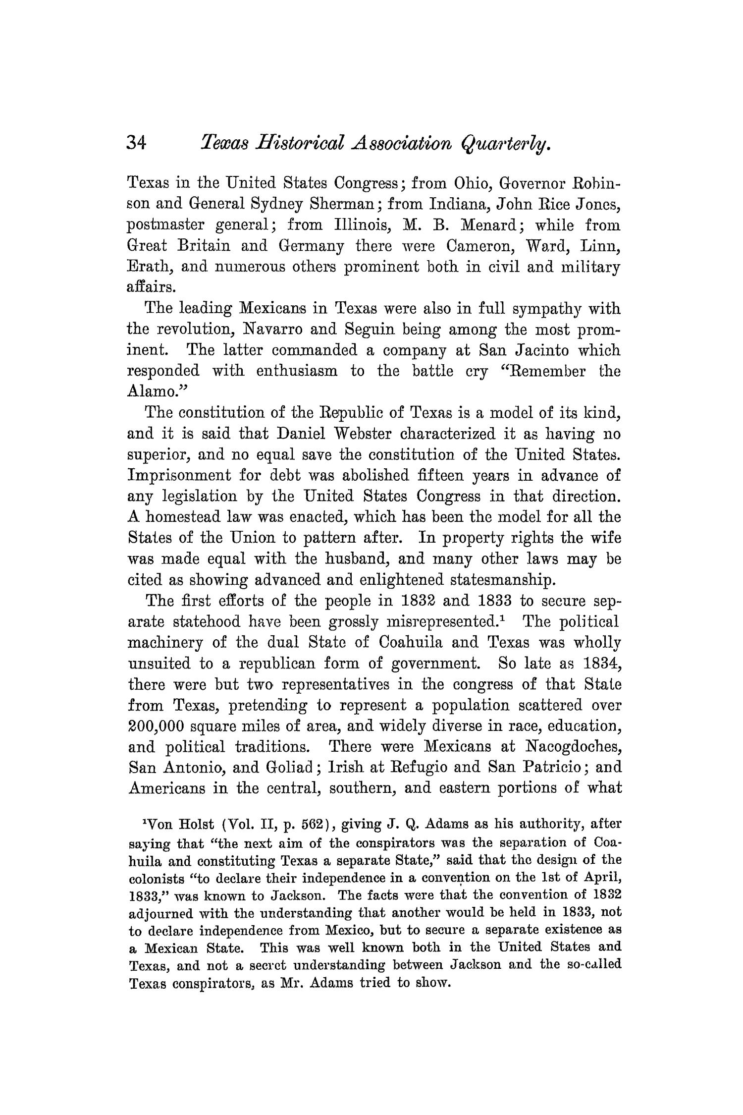 The Quarterly of the Texas State Historical Association, Volume 5, July 1901 - April, 1902                                                                                                      34